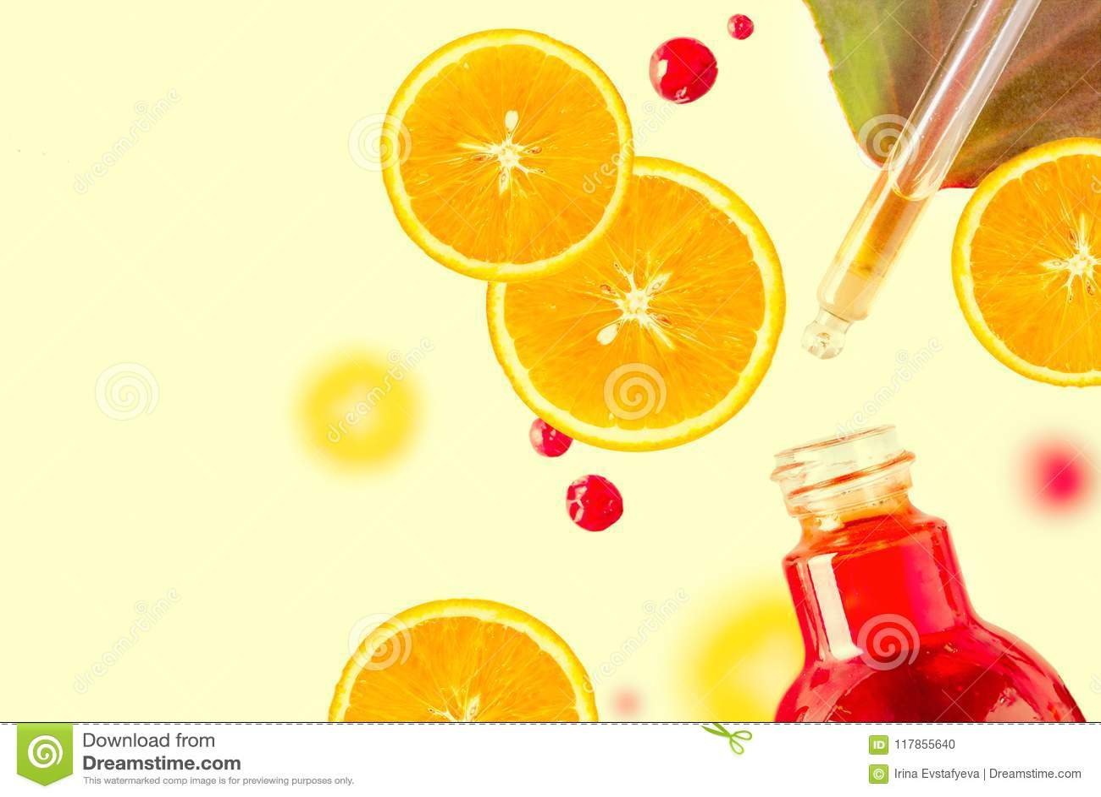 Óleo essencial do citrino, soro da vitamina c, terapia do aroma do cuidado da beleza Cosmético orgânico dos termas com tonificaçã