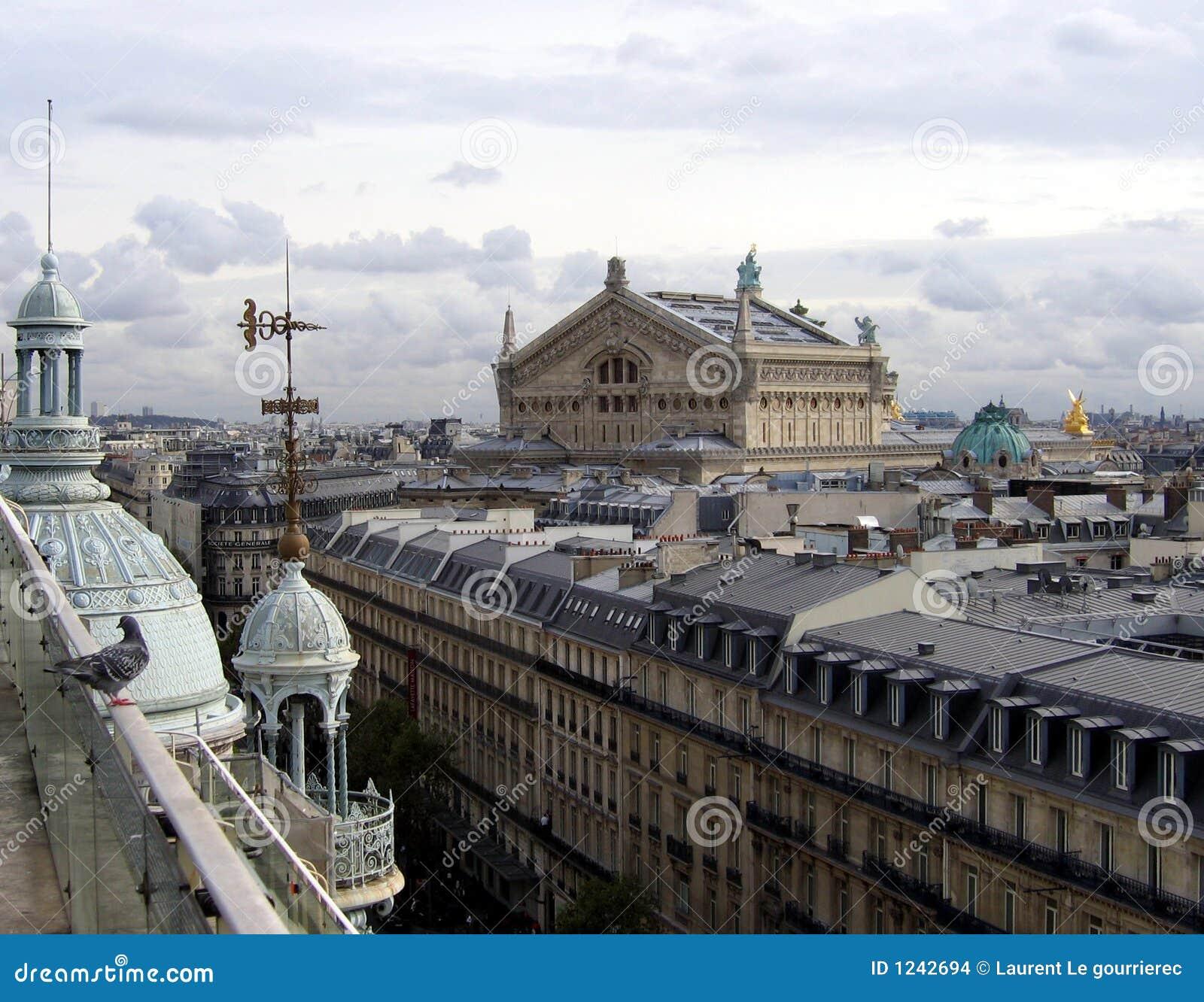 Ópera de París vista del almacén grande de Printemps