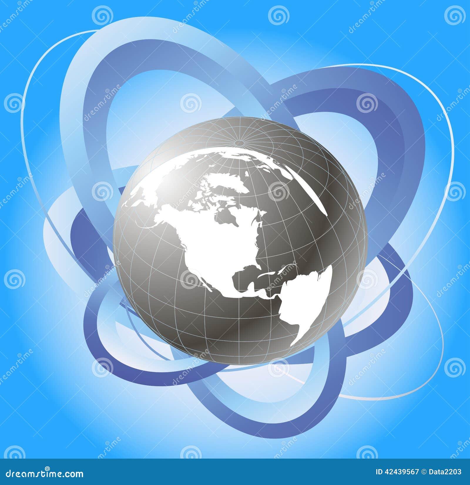 Órbita del globo y del satélite