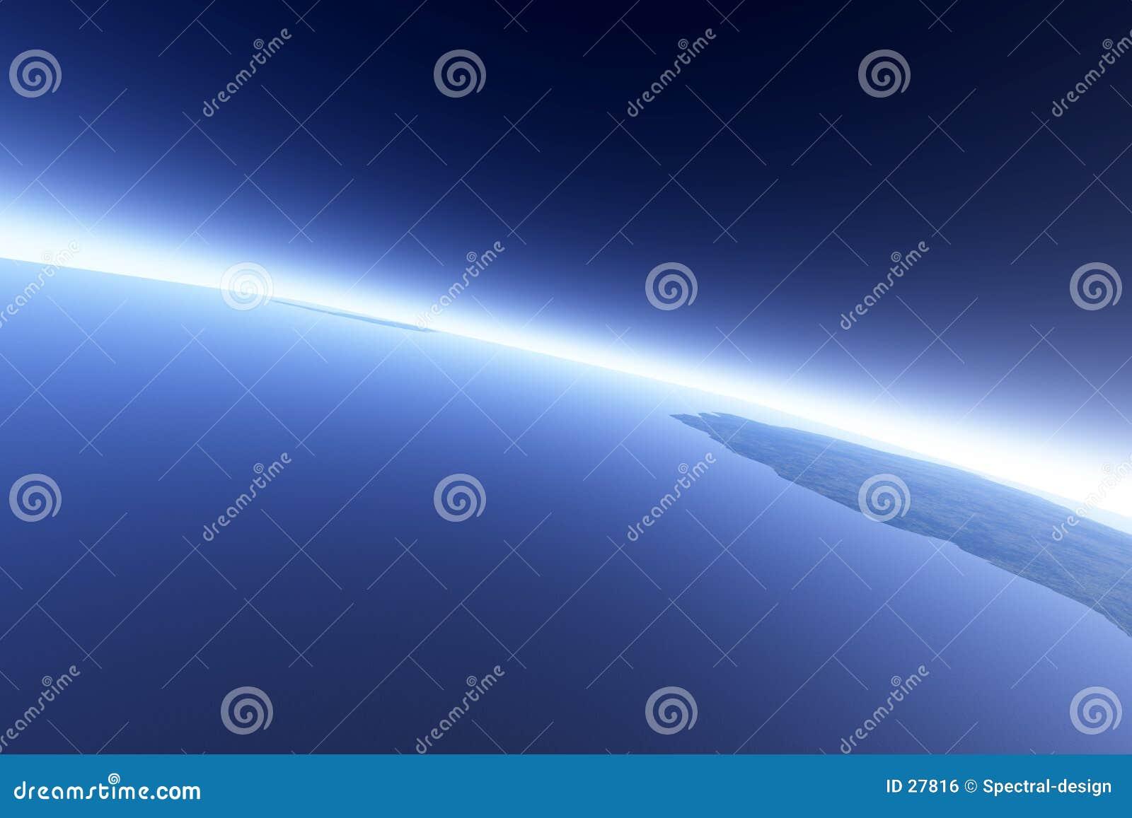 Download Órbita Earthlike stock de ilustración. Ilustración de azul - 27816