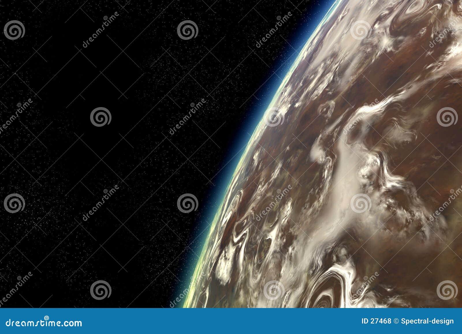Órbita estrangeira do planeta