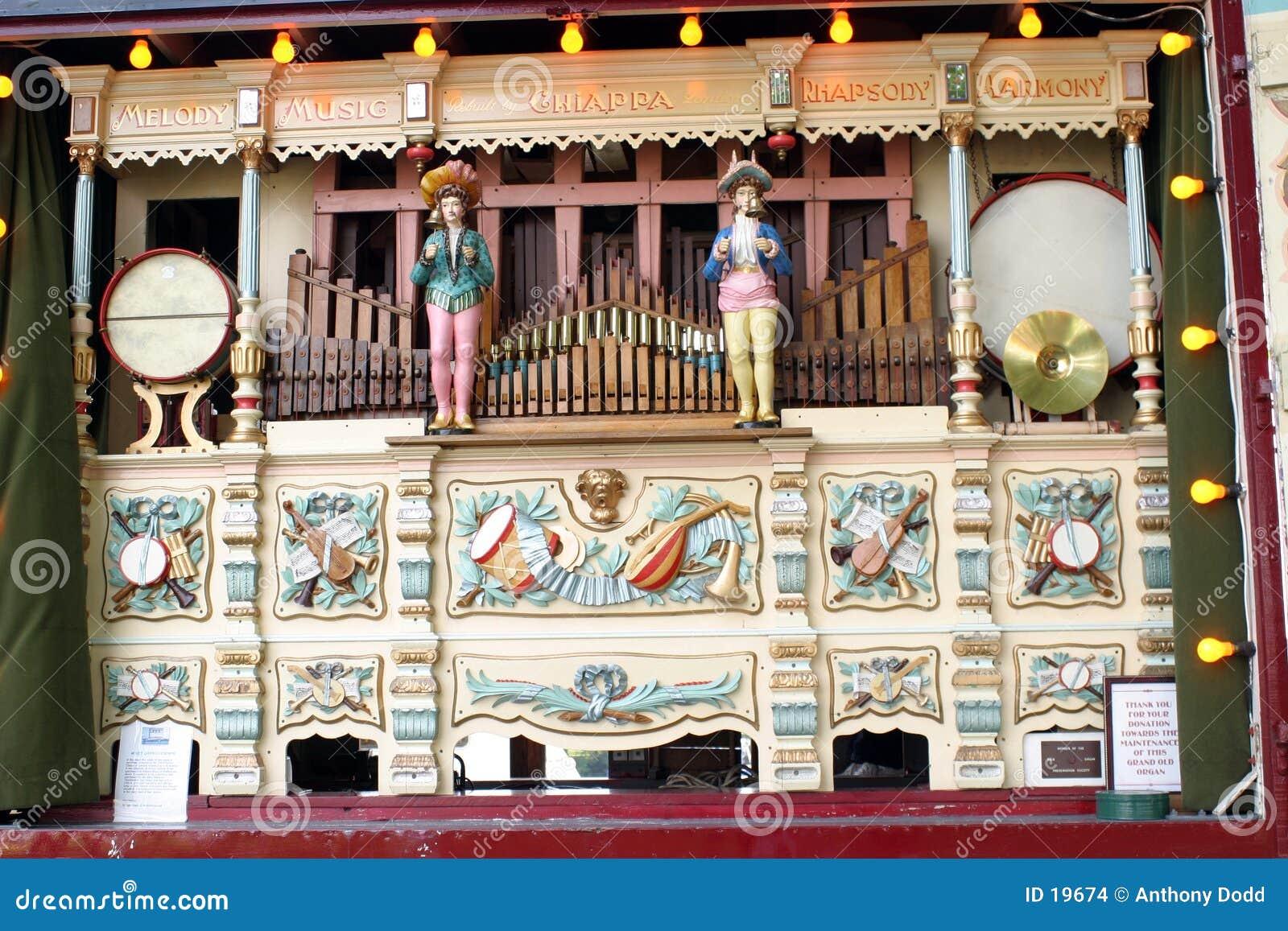 Órgão da música do recinto de diversão