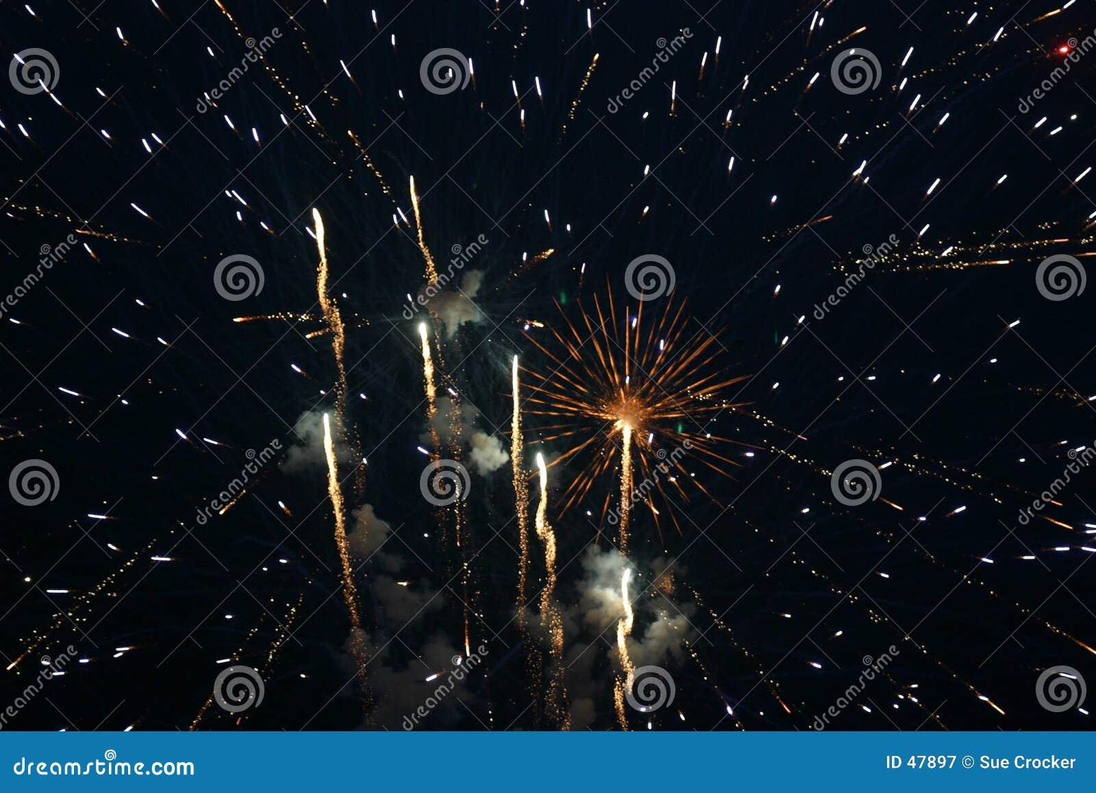 ô de fogos-de-artifício de julho