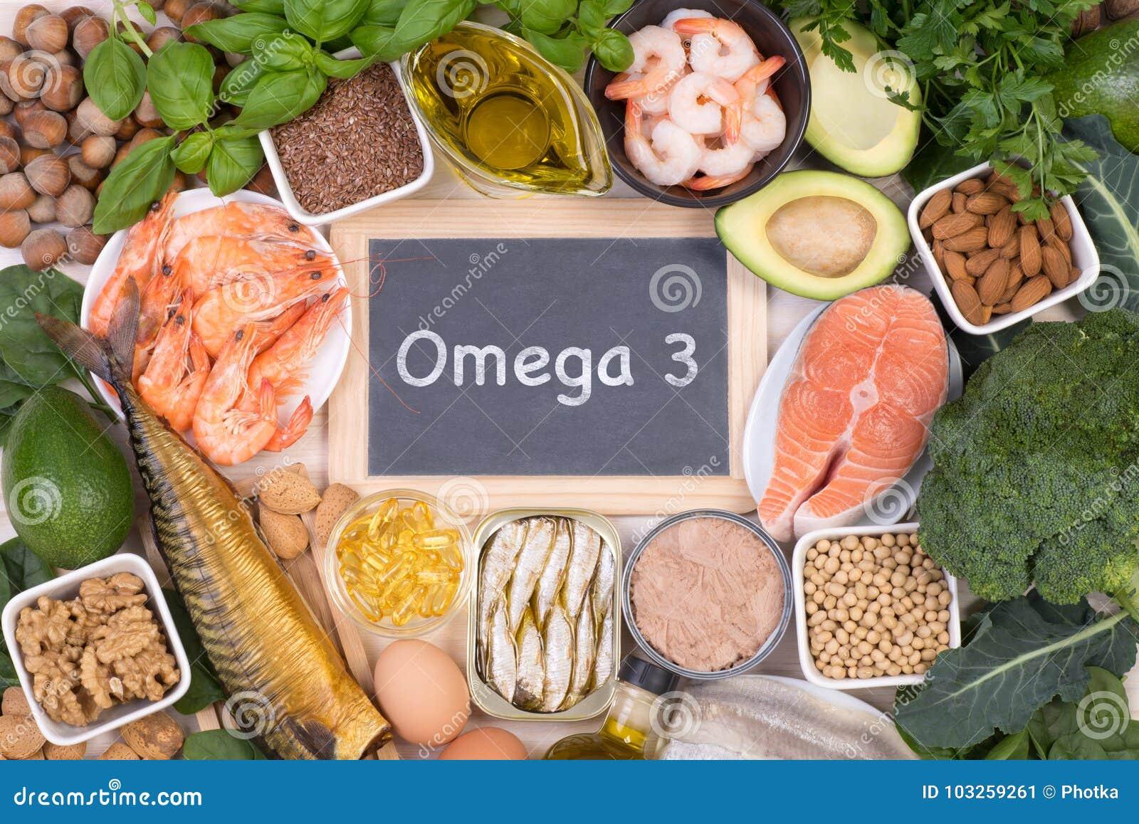 Ômega 3 fontes do alimento dos ácidos gordos