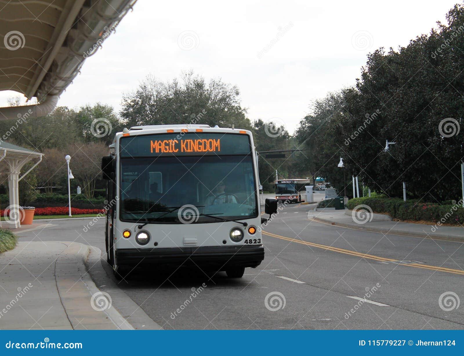 Ônibus mágico do reino na parada