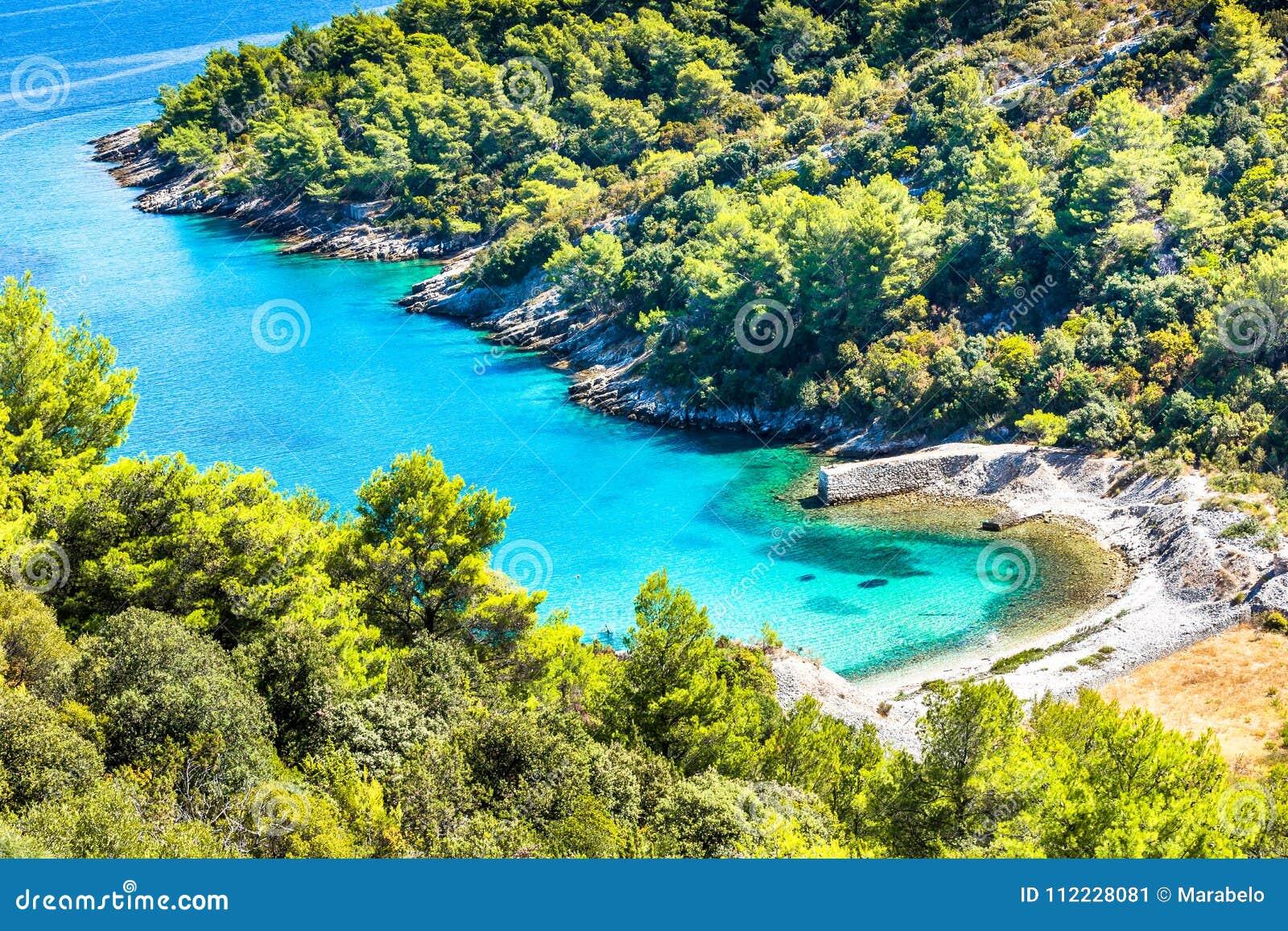 Ö av Brac i Kroatien, Europa