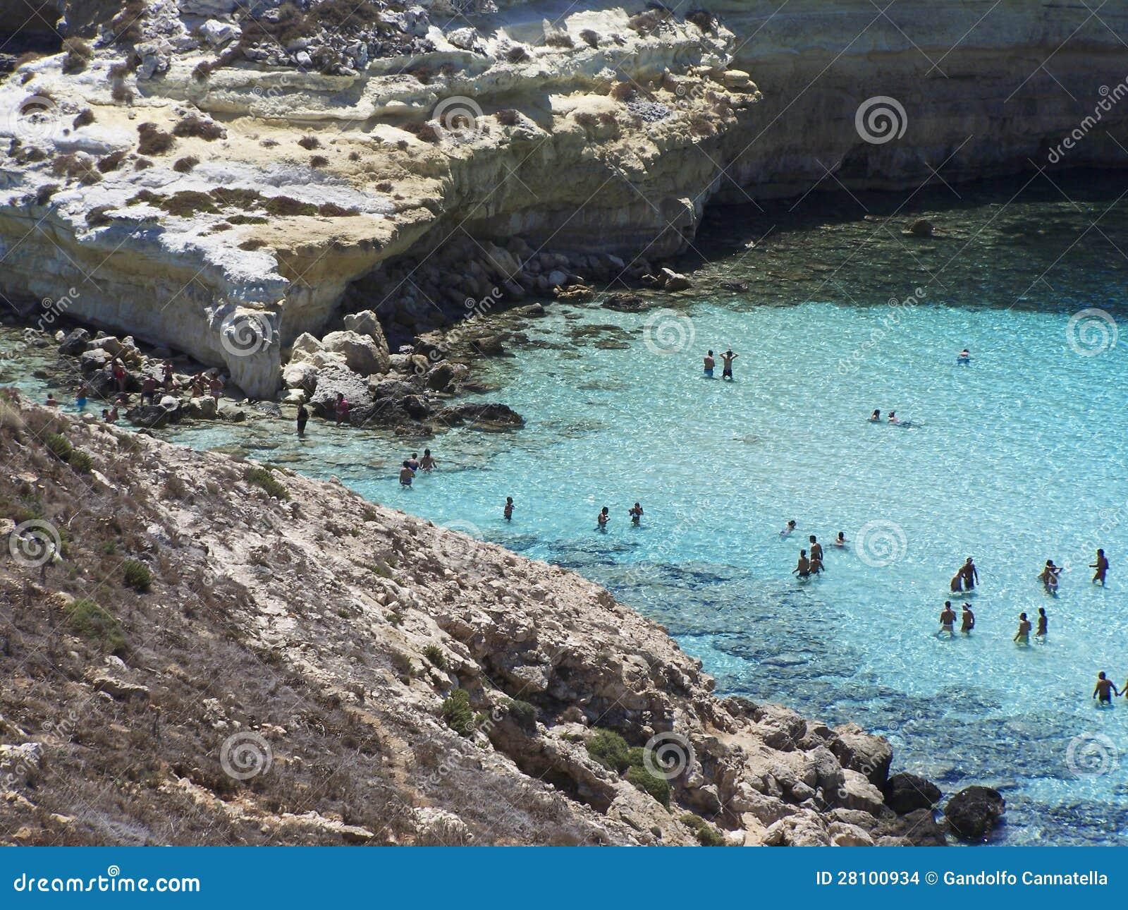 Ö av kaniner Lampedusa, Sicily