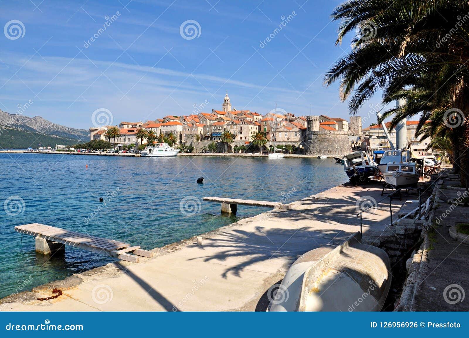 Ö för KorÄ ula, Kroatien