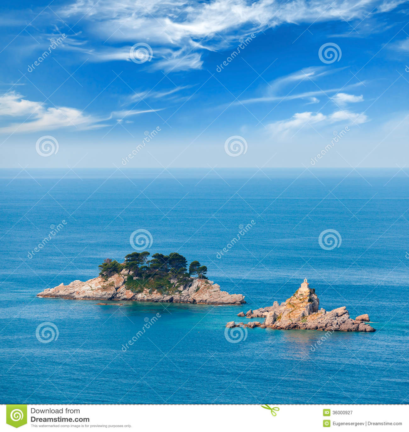 Öar i Adriatiskt havet, Montenegro