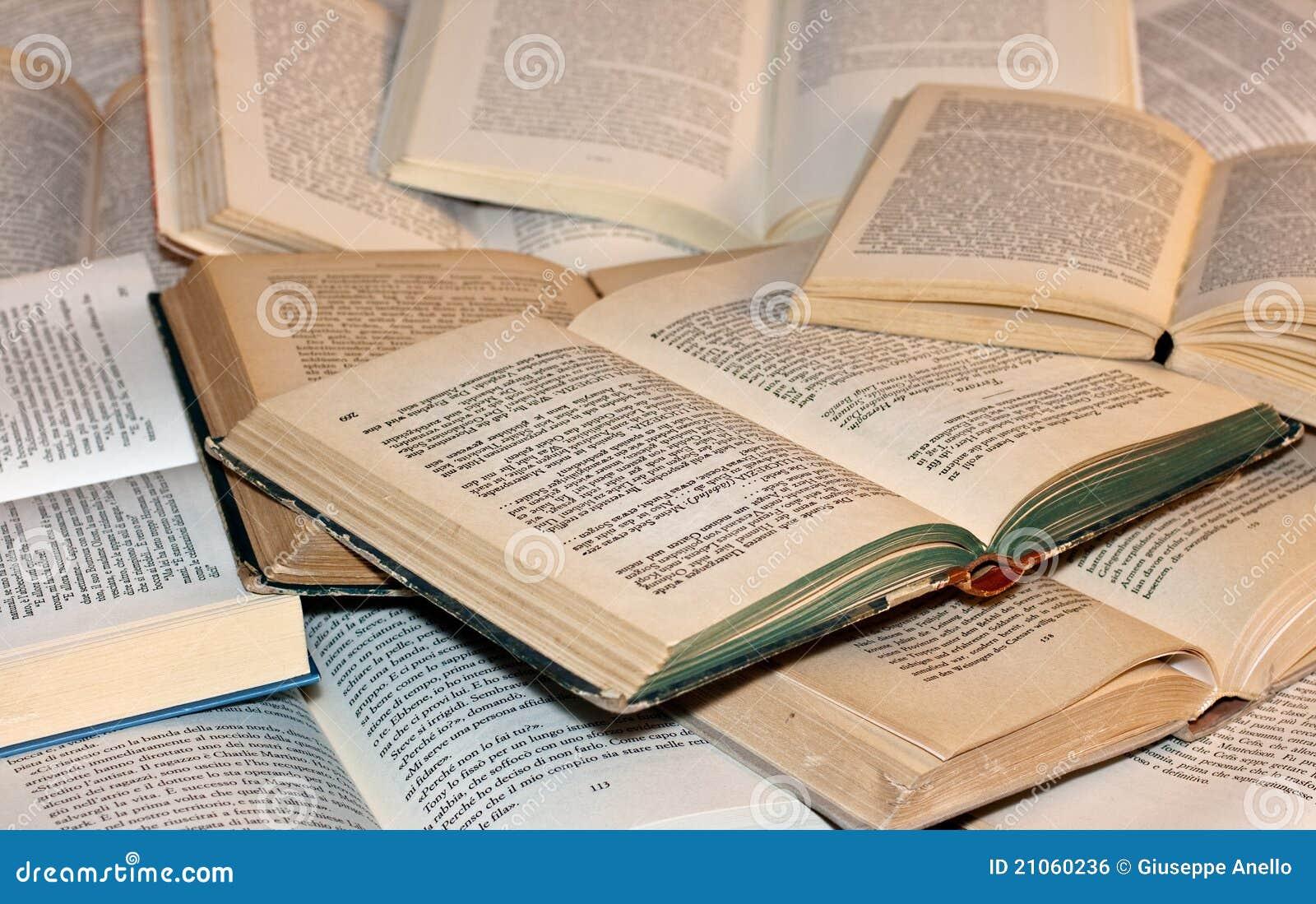 Öffnen Sie Bücher
