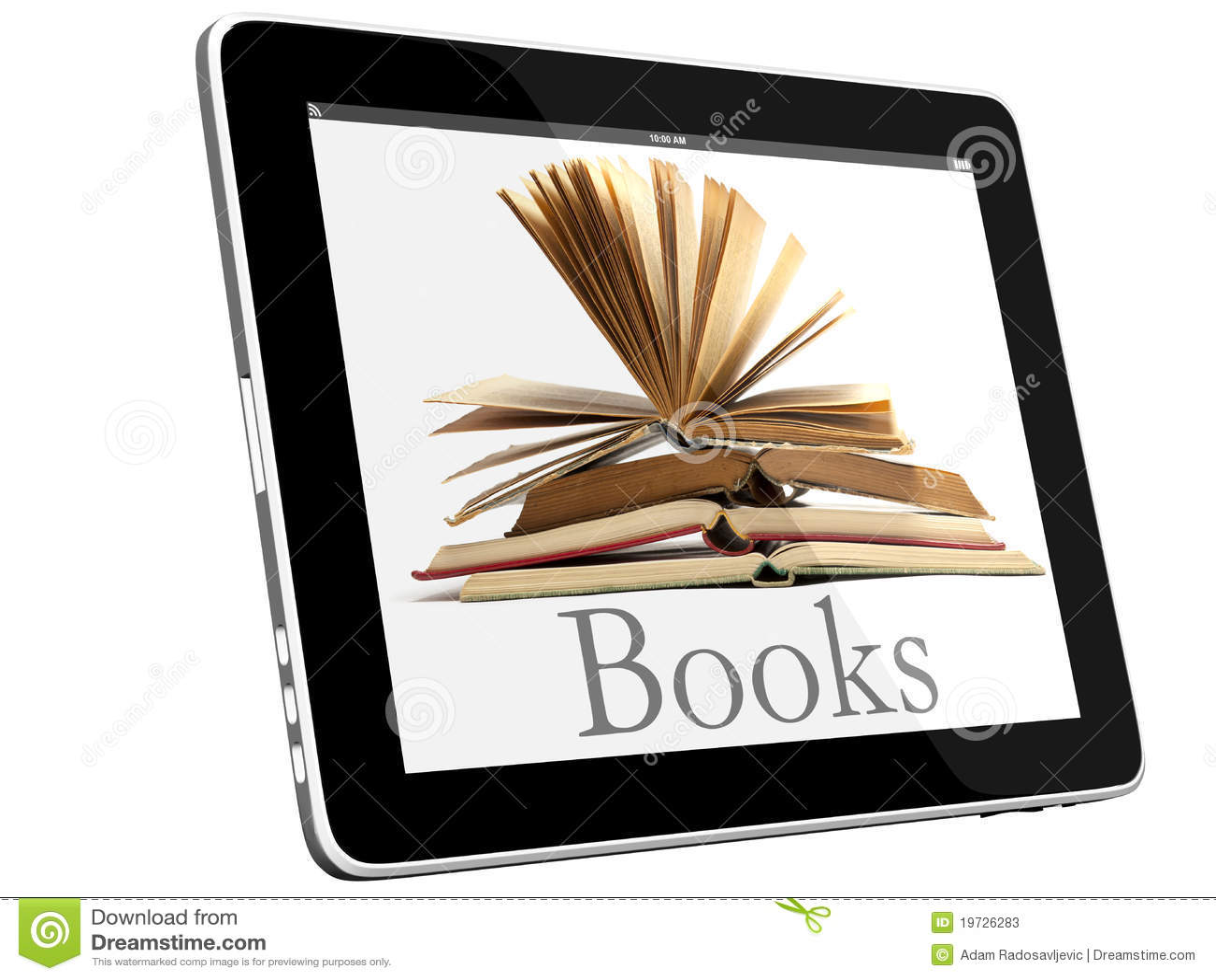 Öffnen Sie Bücher auf iPad 3D Konzept