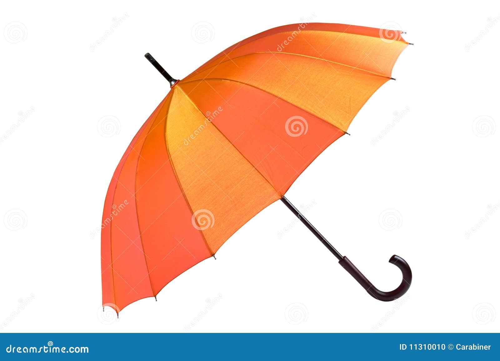 Öffnen Sie den getrennten Regenschirm