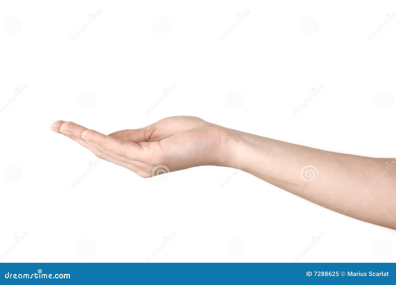 Öffnen Sie Hand