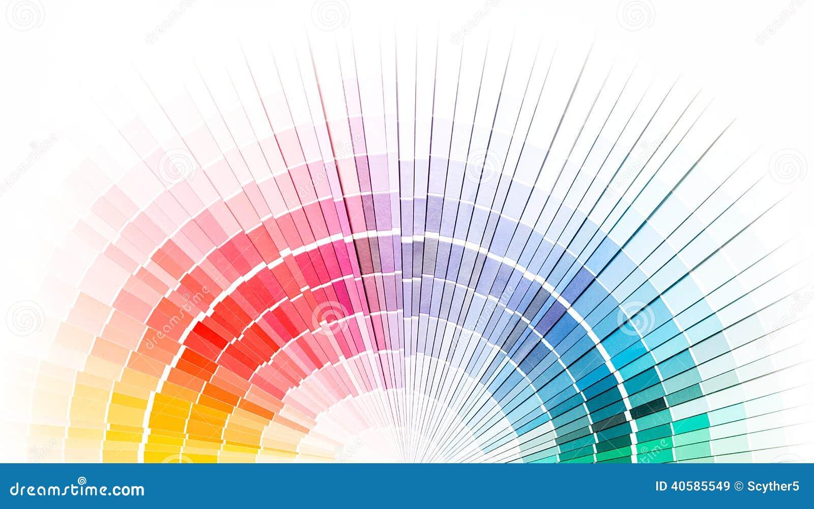 Öffnen Sie pantone Beispielfarbenkatalog