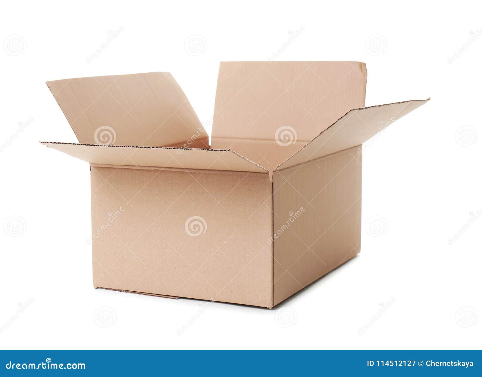 Öffnen Sie Pappschachtel auf Hintergrund