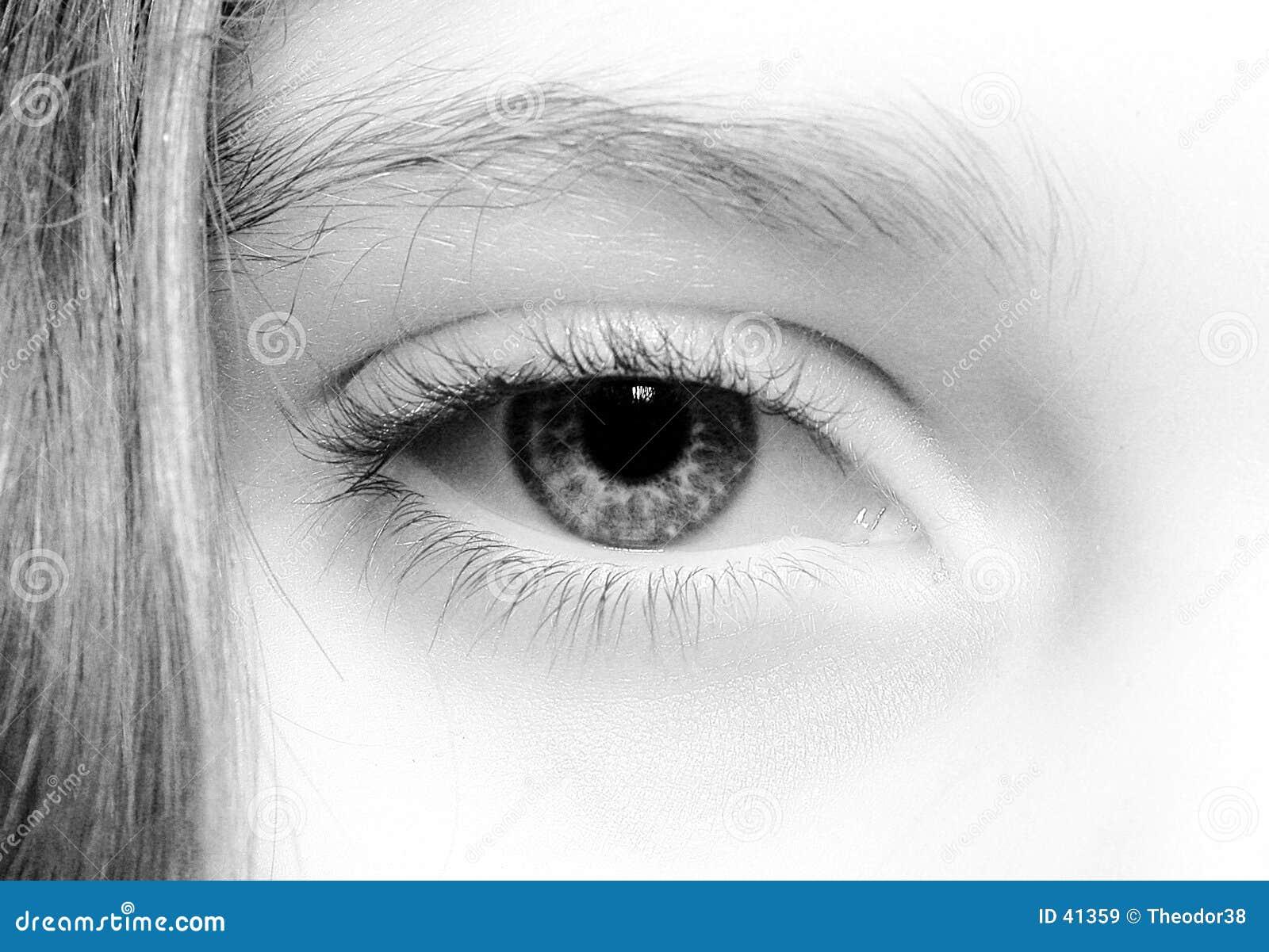 öga för 3 closeup