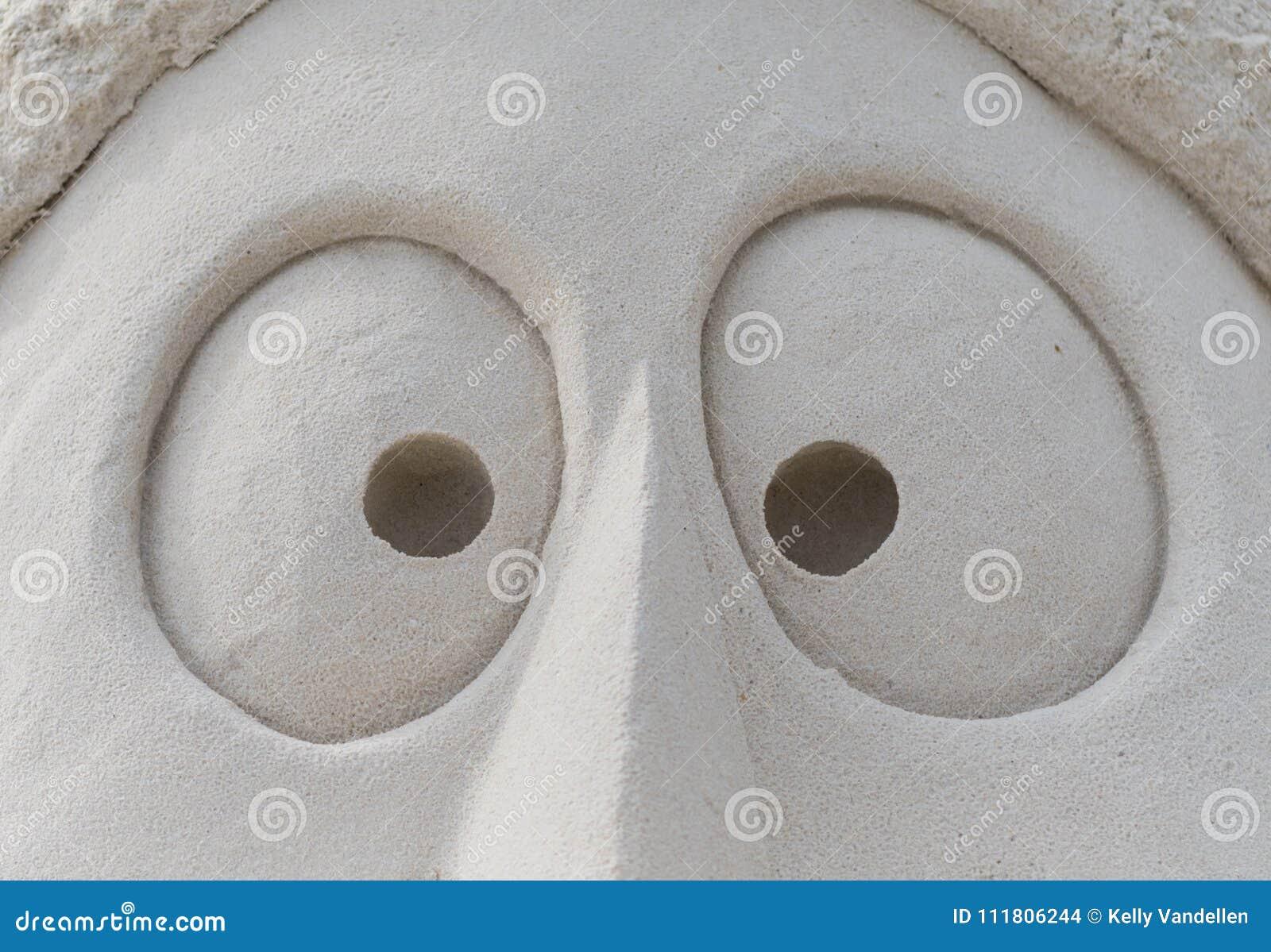 Ögon i sand