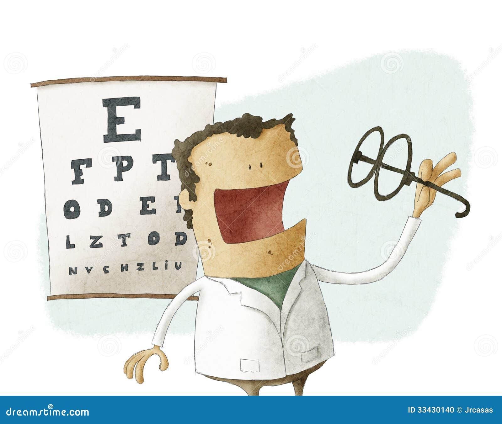 Ögonläkaretagandeexponeringsglas