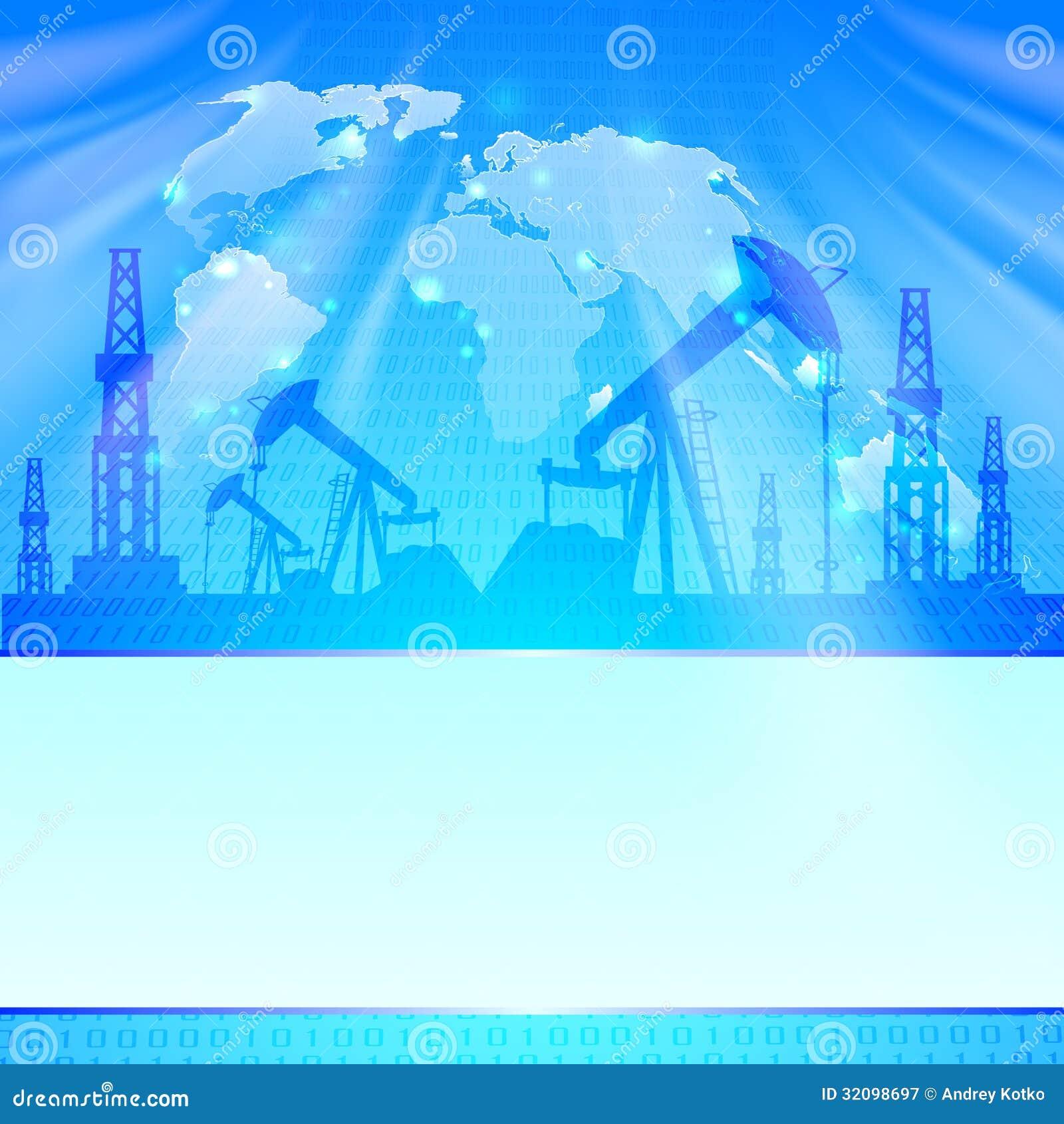 Öl-Pumpe auf Blau.