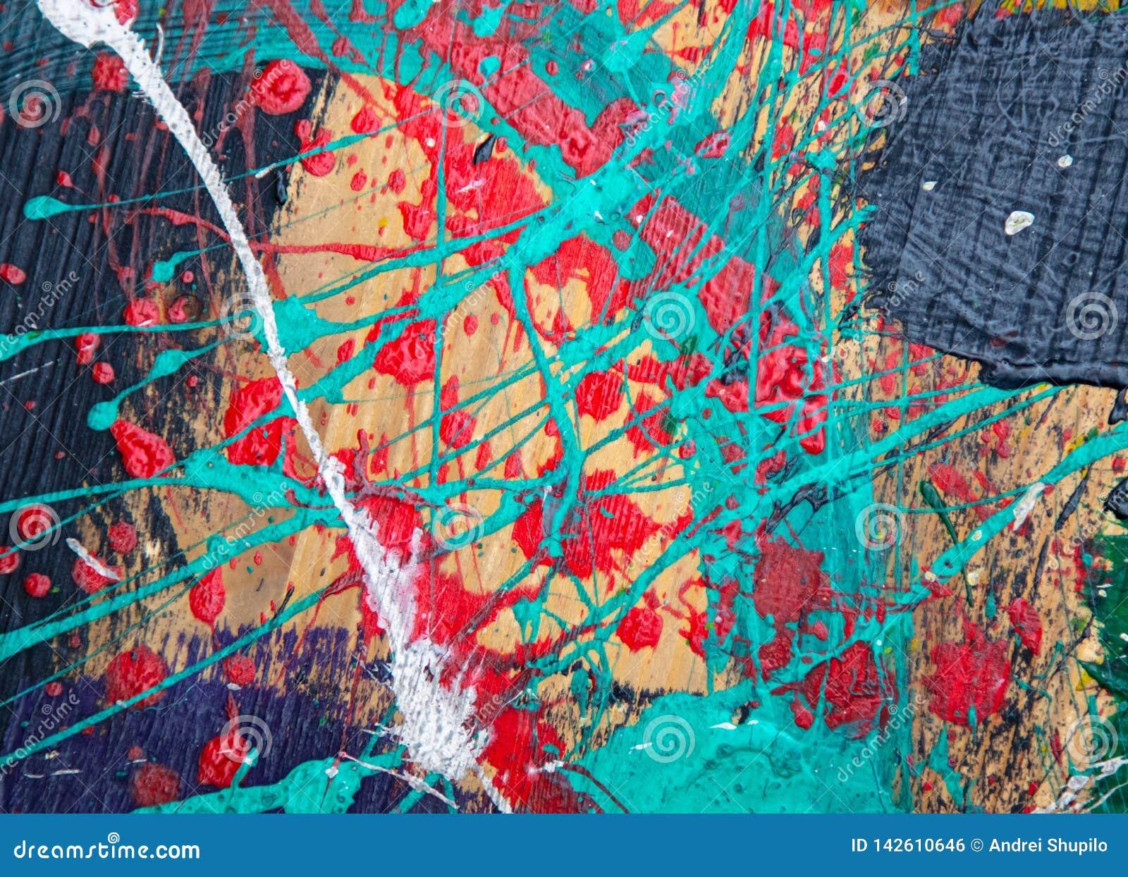 Ölfarbe auf Segeltuch als abstraktem Hintergrund