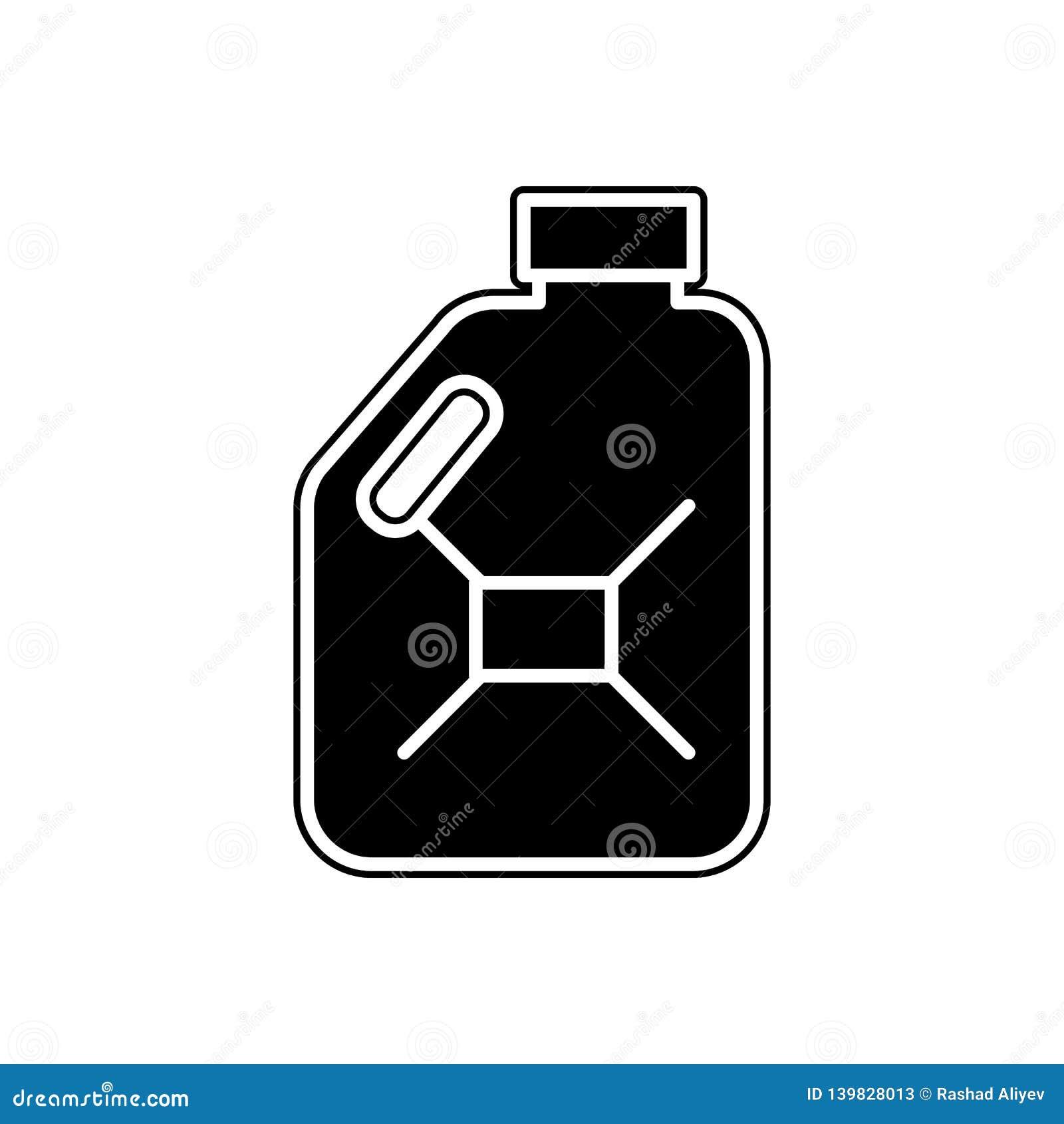 Ölflaschenikone Element von Autos Service und von Reparaturteilen für bewegliches Konzept und Netz Appsikone Glyph, flache Linie