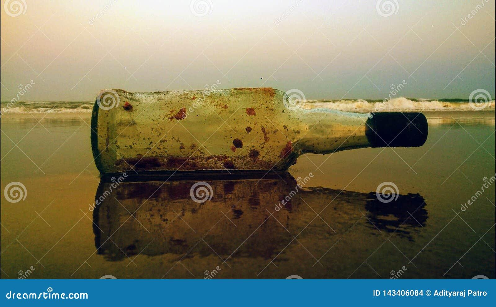 Ölflaska med reflexion