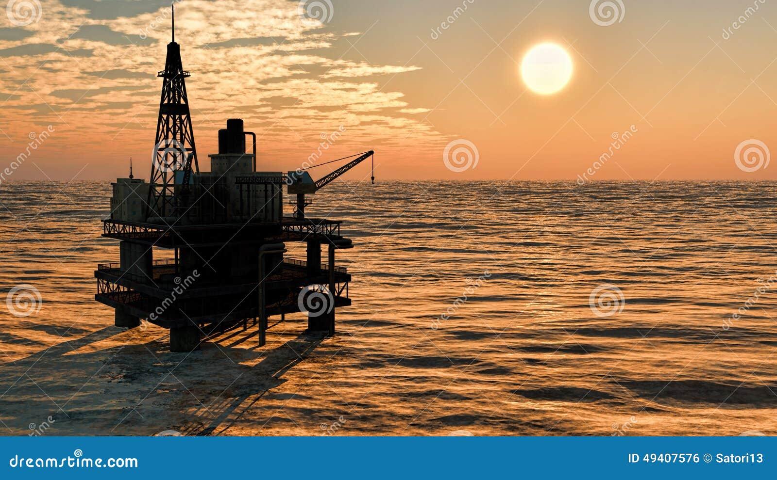Download Ölplattformplattform stock abbildung. Illustration von kraftstoff - 49407576