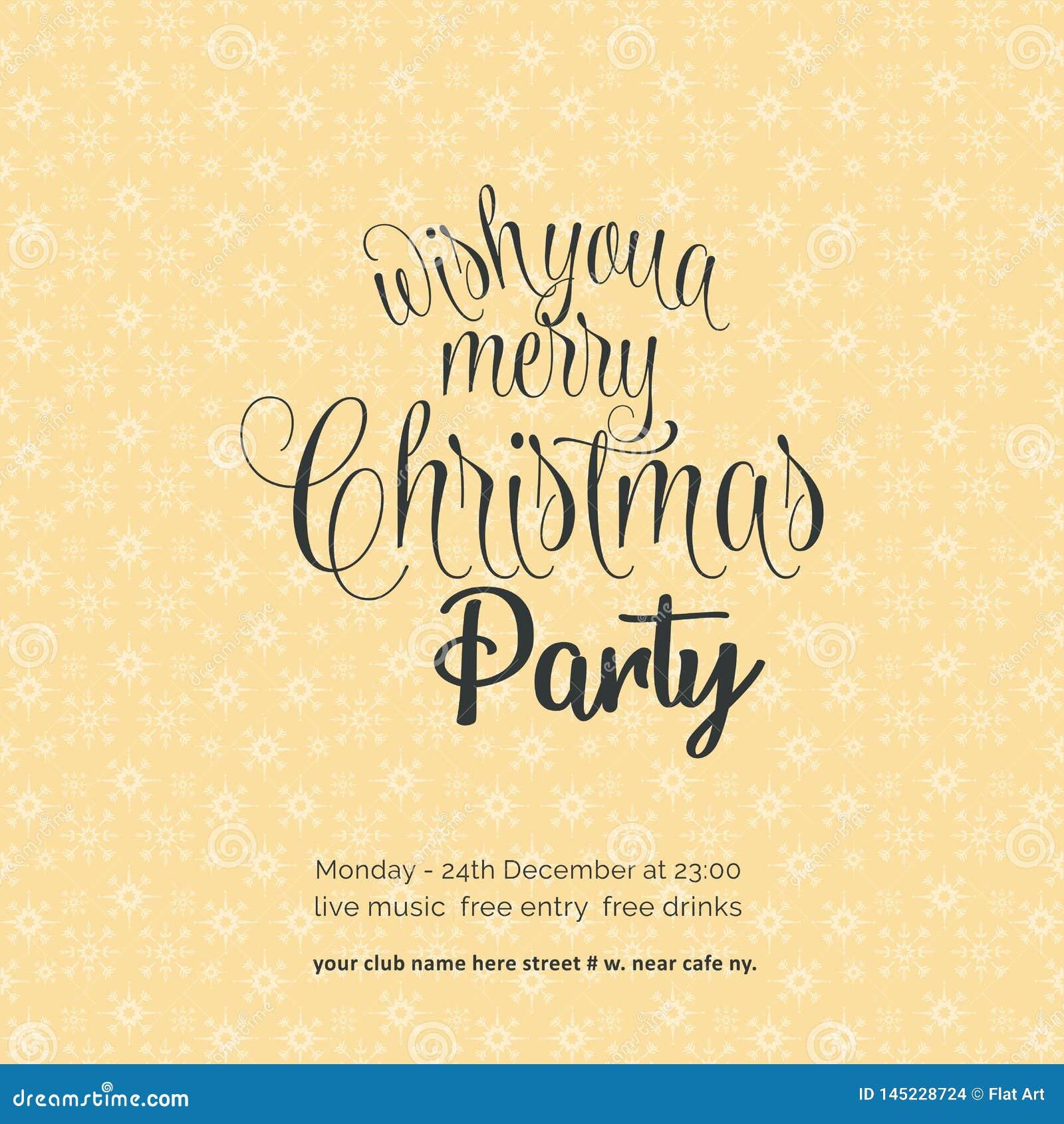 Önska dig en glad bakgrund för snöflinga för Chrismas nattparti