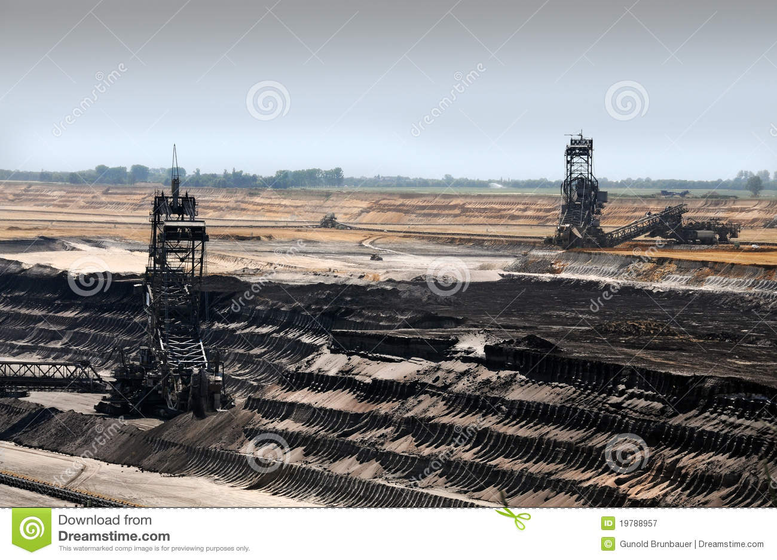 öppen brun coalmining