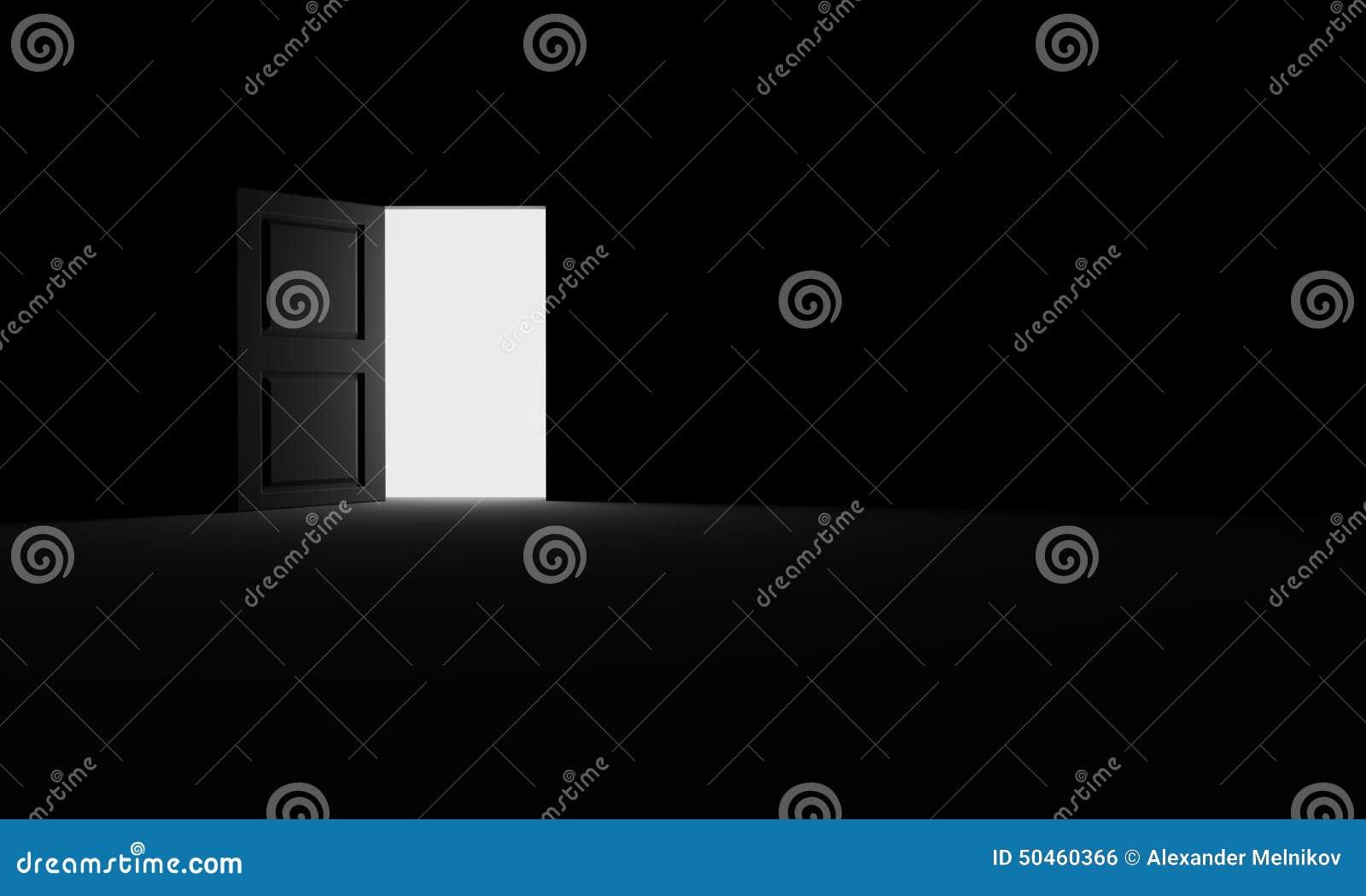 Öppen dörr in i mörkret