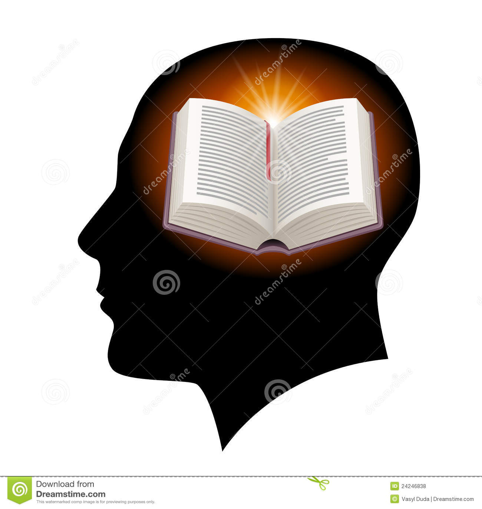 öppen head manlig för bok