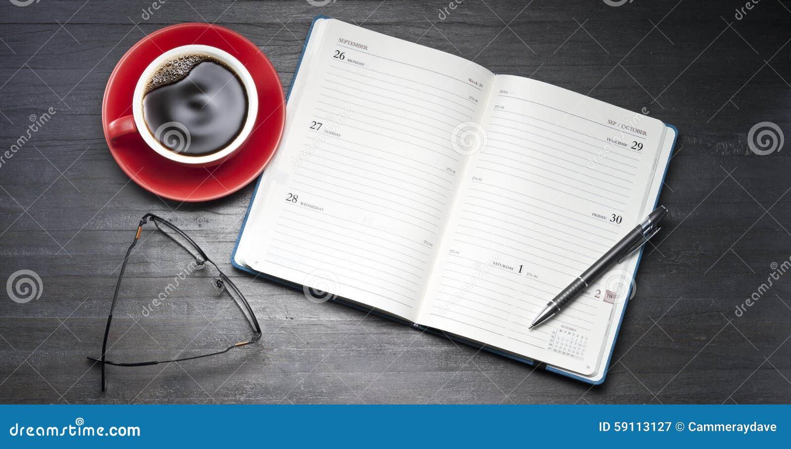 Öppen kalenderdagbokorganisatör