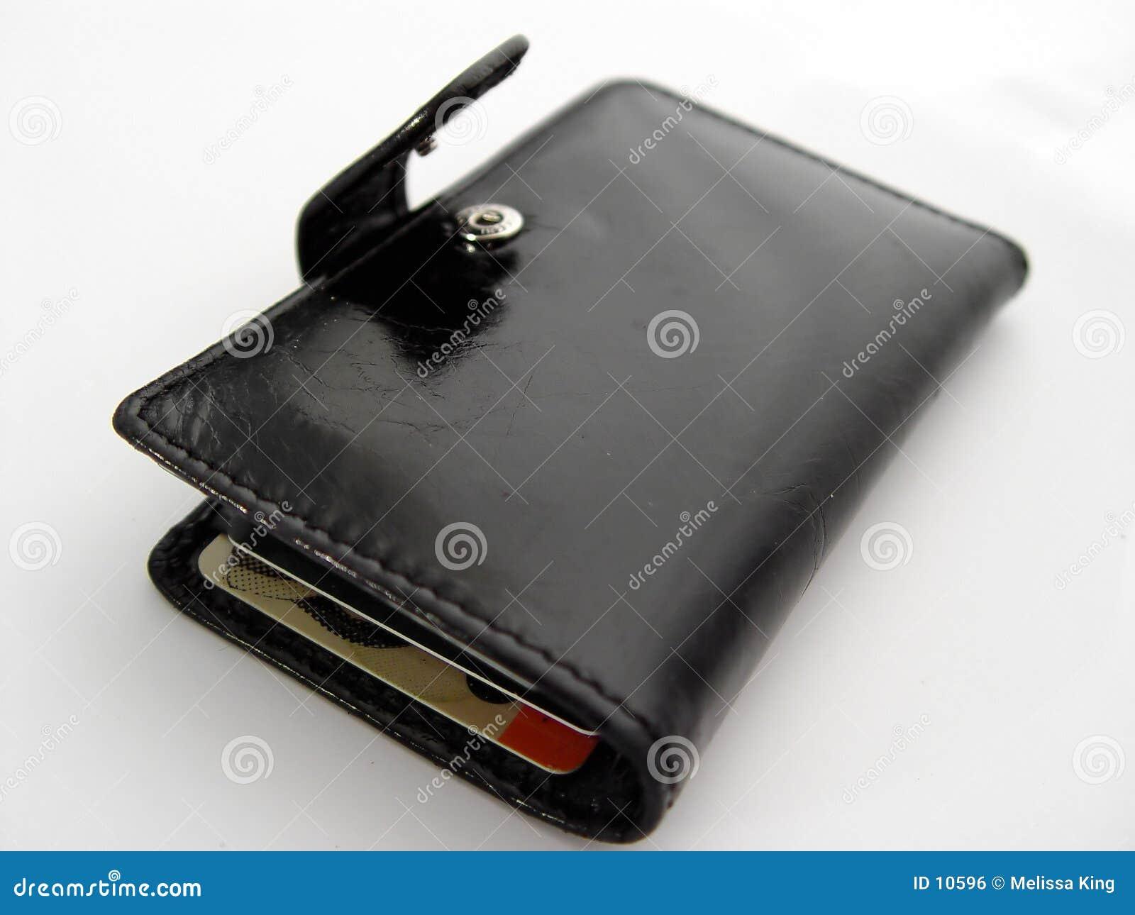 öppen plånbok för black
