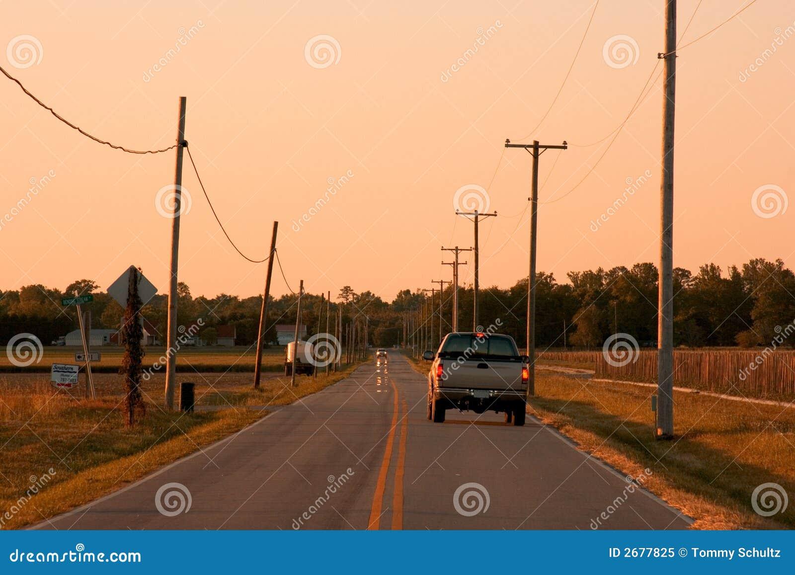 öppen väg för land