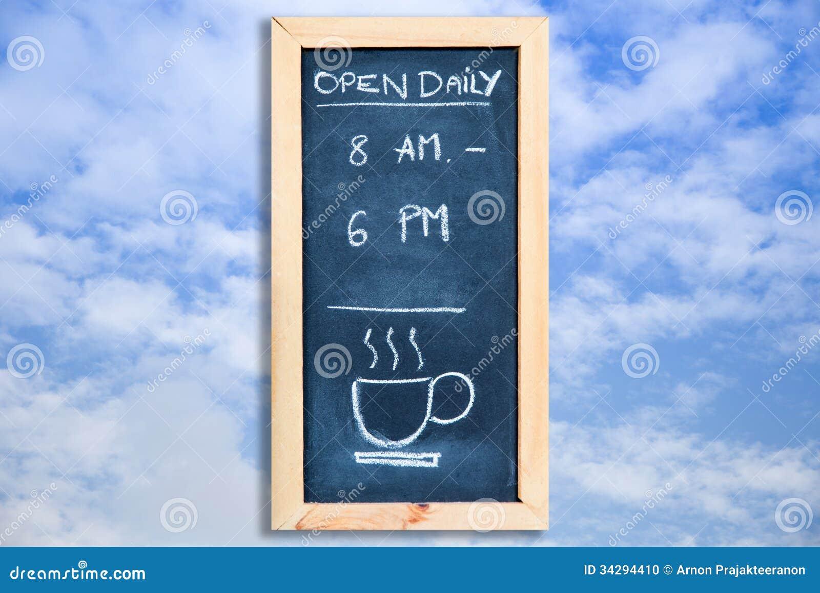 Öppna dagligen på himlen