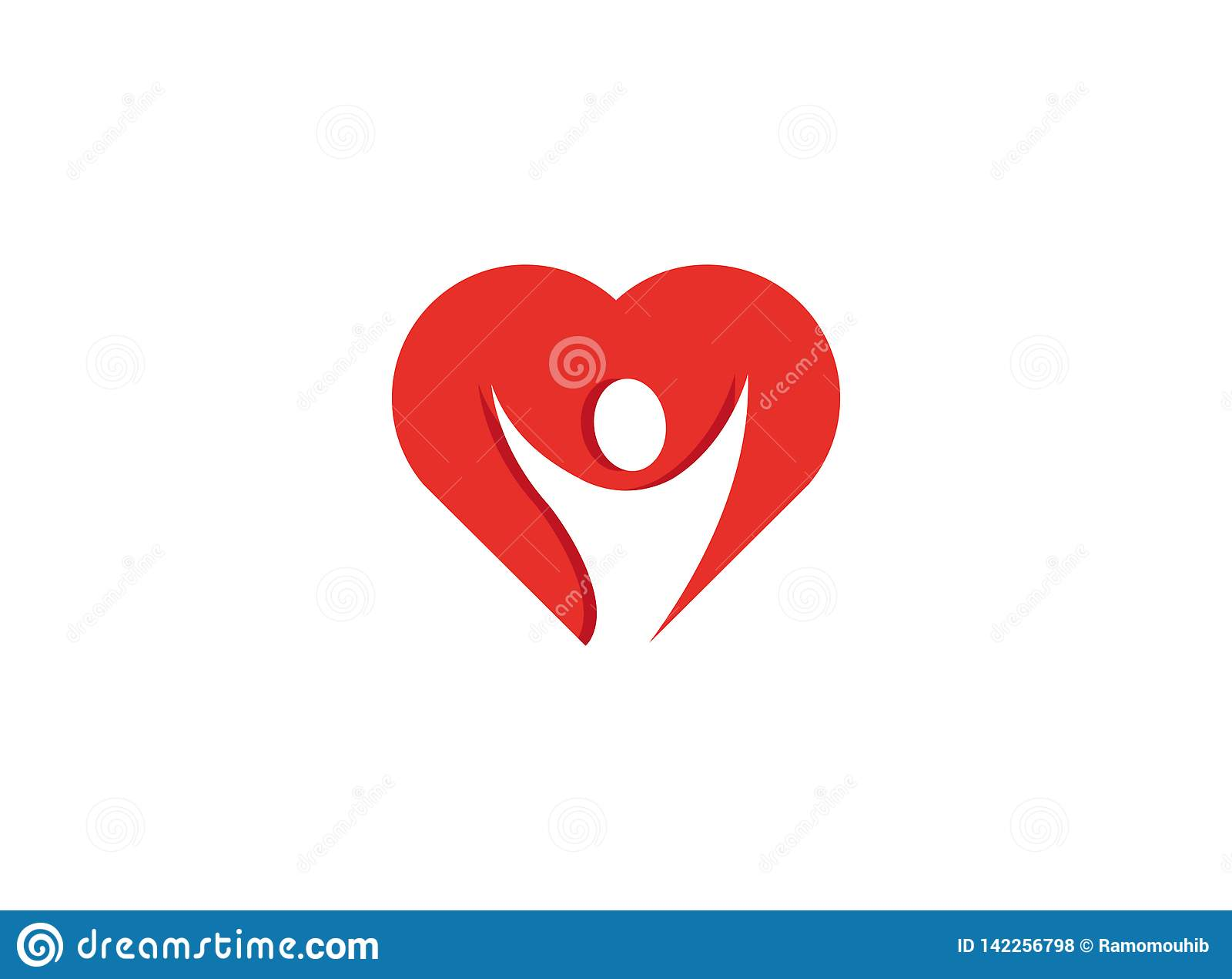 Öppna händer för sund person inom en hjärtalogo