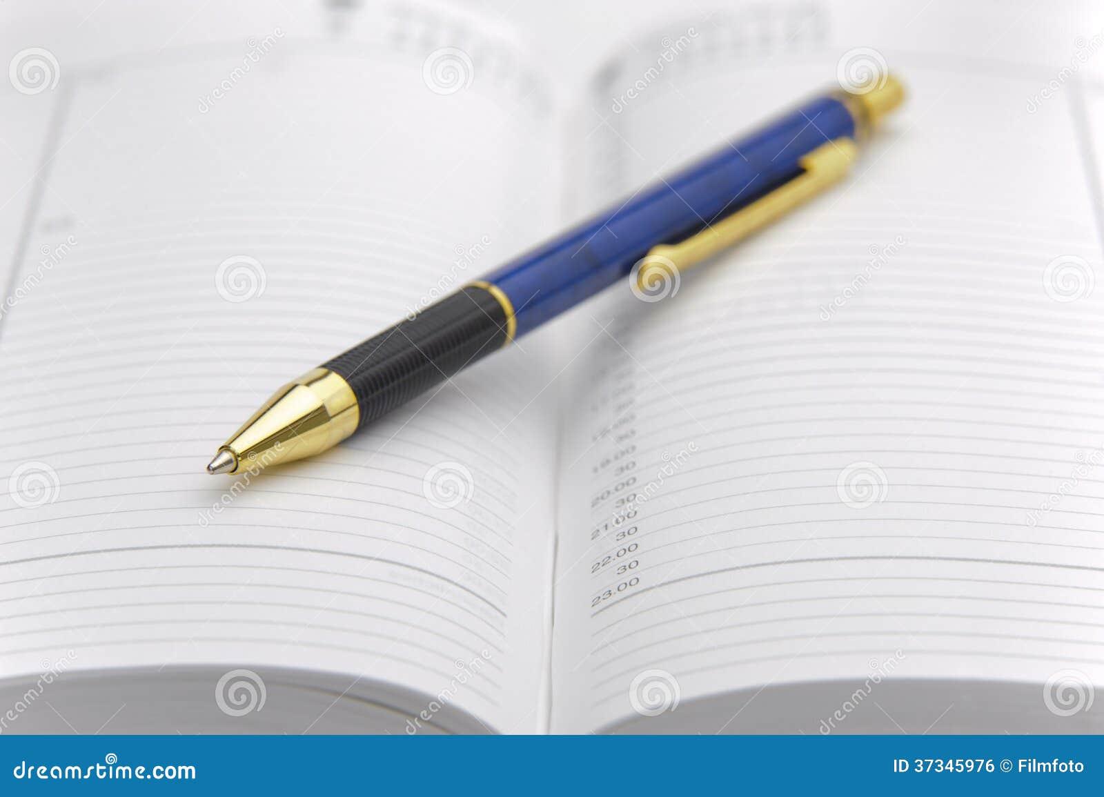 Öppna kalendern med pennan