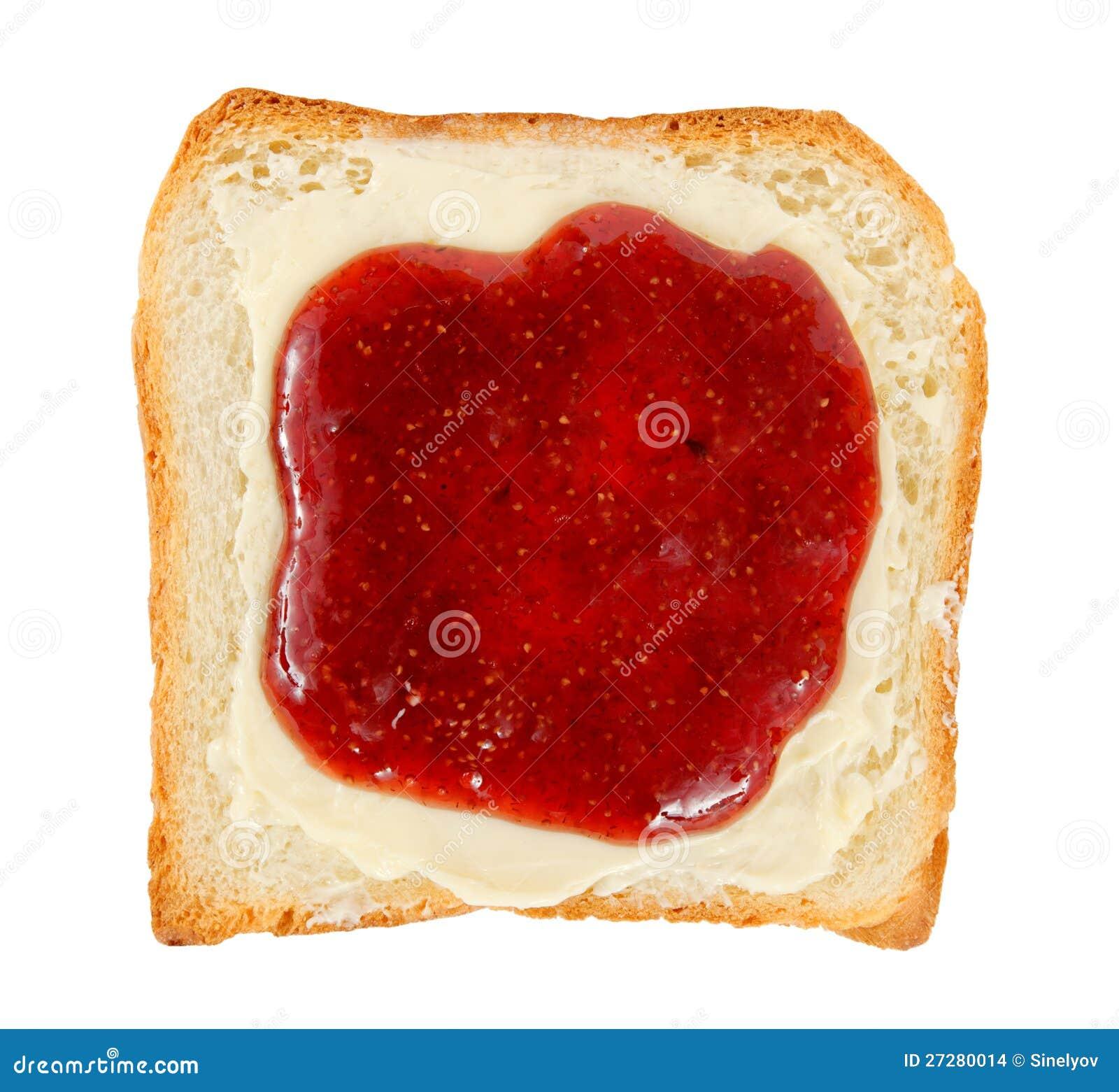 Öppna smörgåsen med smör och driftstopp