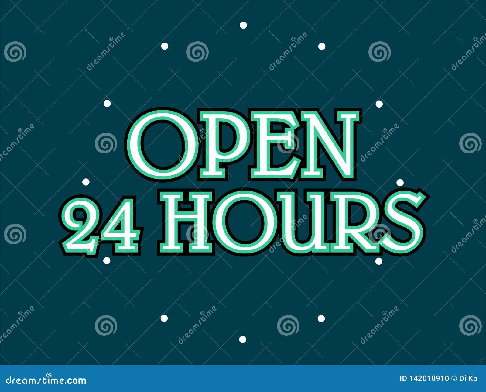 Öppna 24 timmar lagerför vektorn