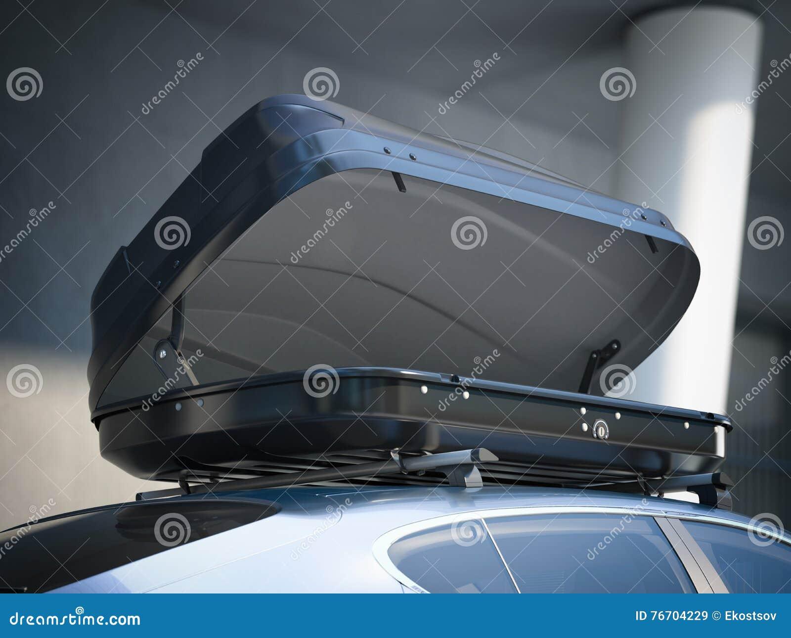 Öppnad takkugge och modern bil framförande 3d