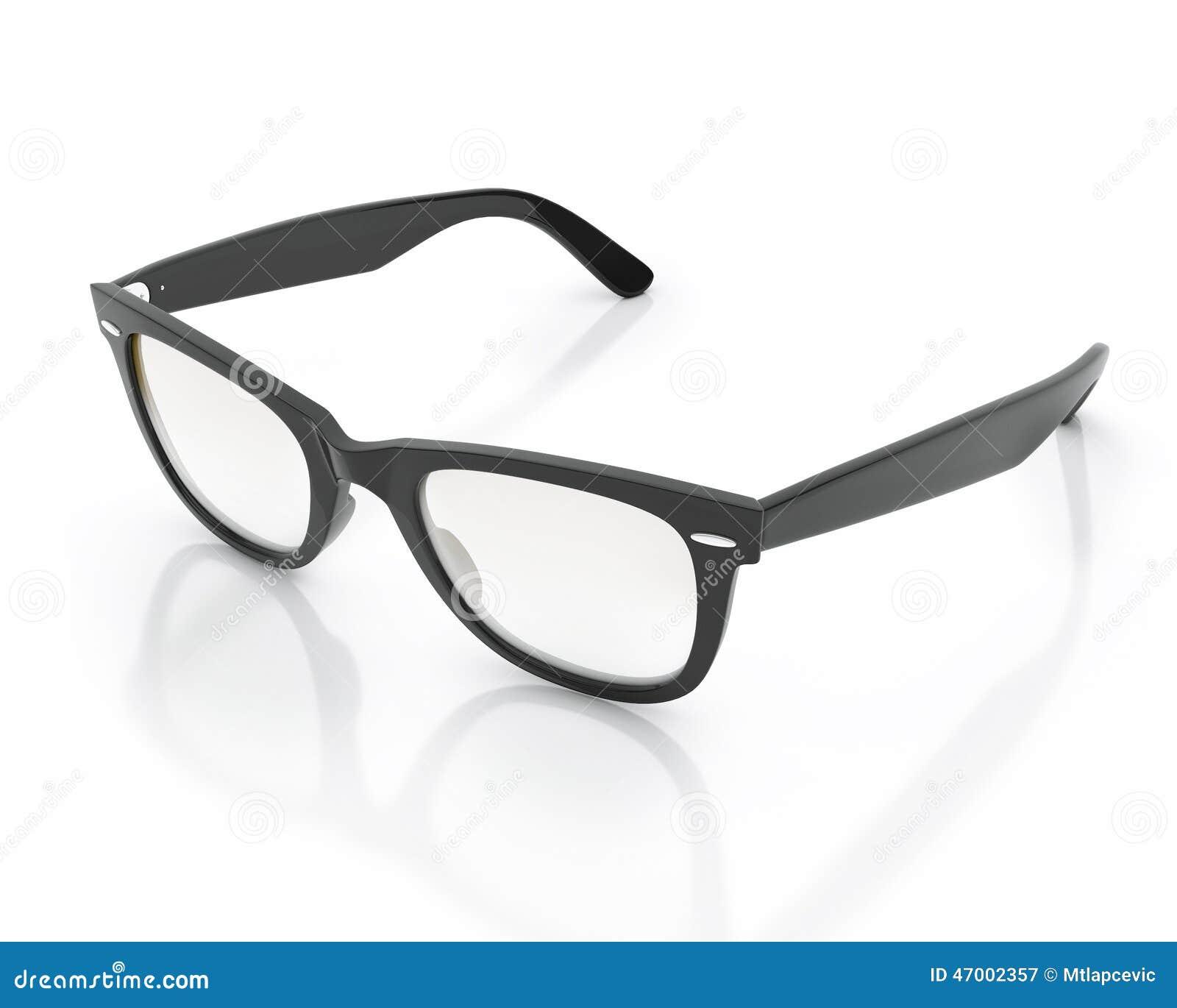 Öppnade svarta hipstersolexponeringsglas som isoleras på vit bakgrund
