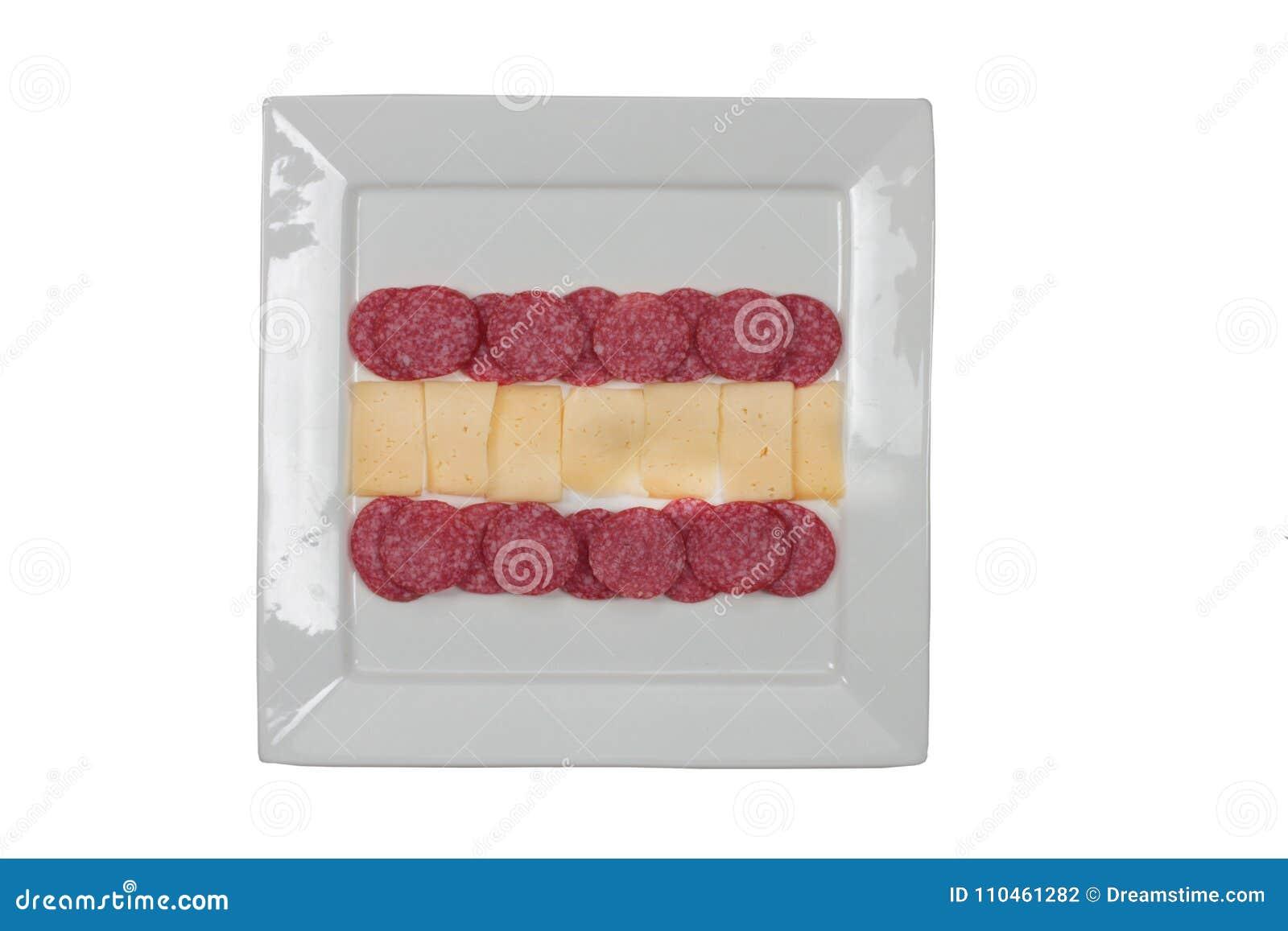 Österrikisk mat på plattan som göras som en flad