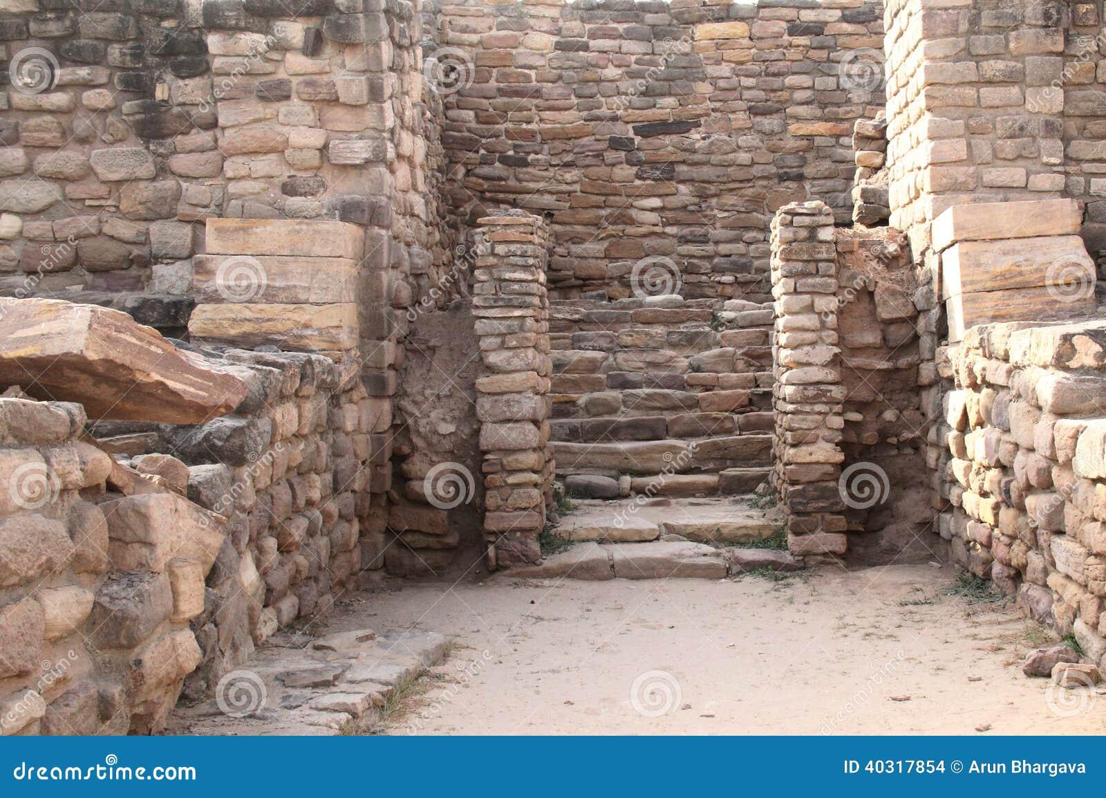 Östlig ingång till citadellen på den Harappan platsen