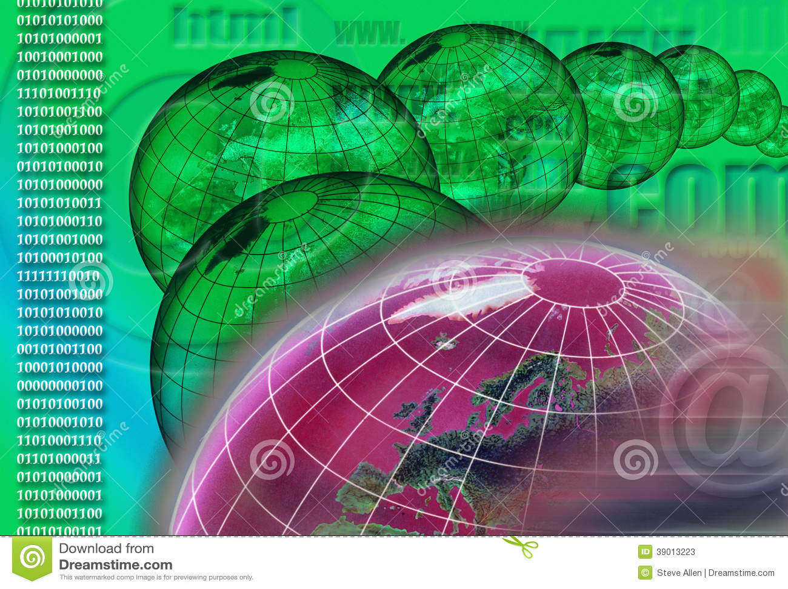 Över hela världen - internet - cyberspace