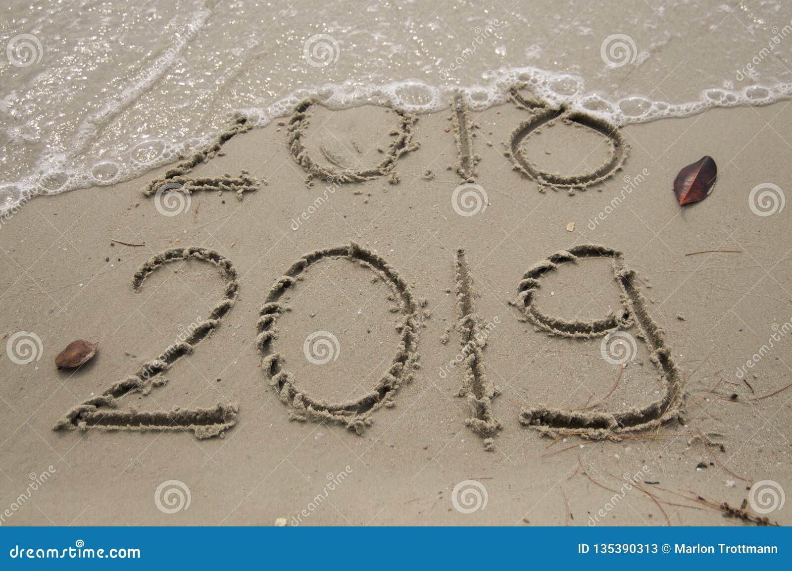 2018/2019 övergång/nya år helgdagsafton