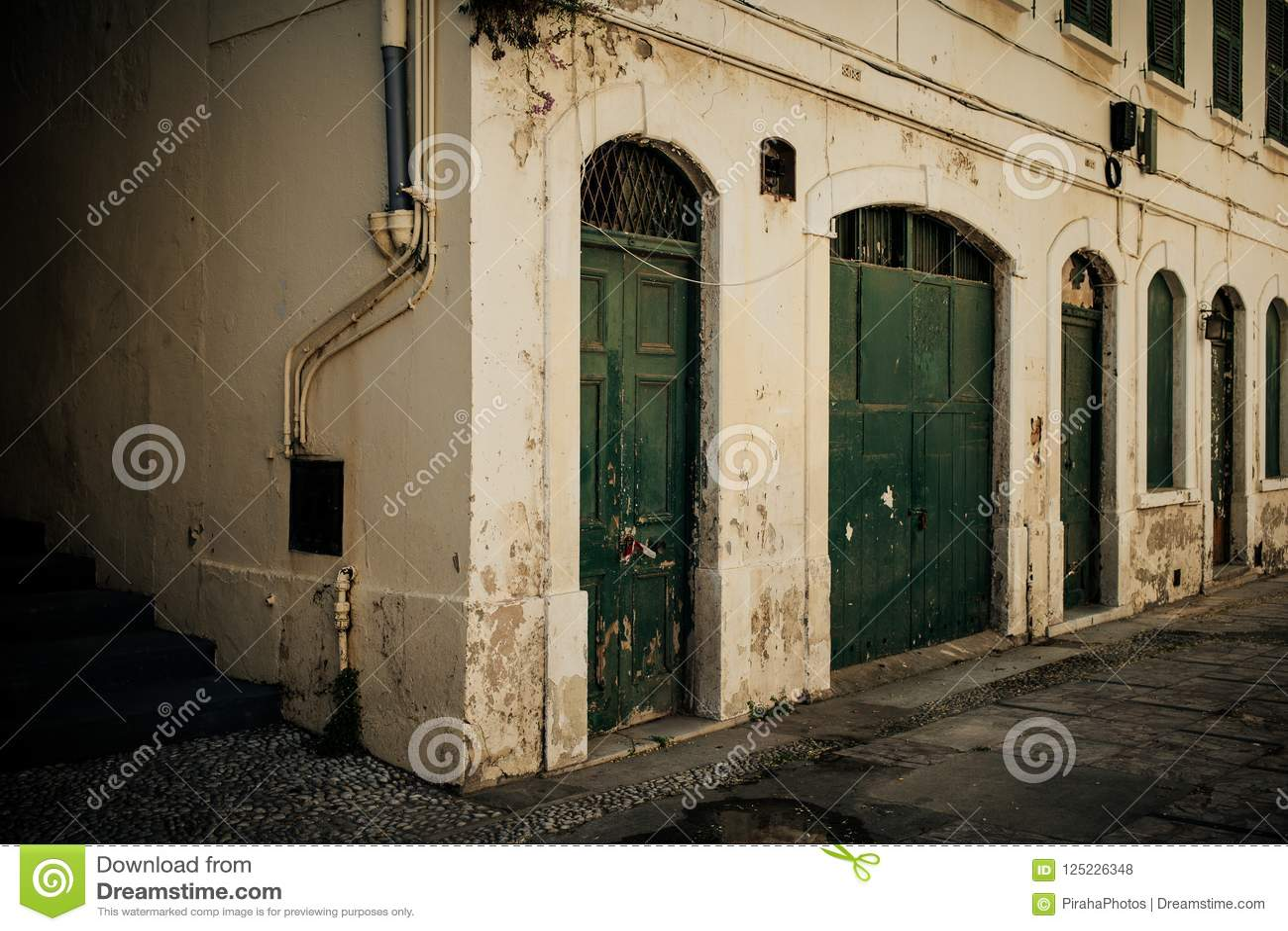 Övergett gammalt hus