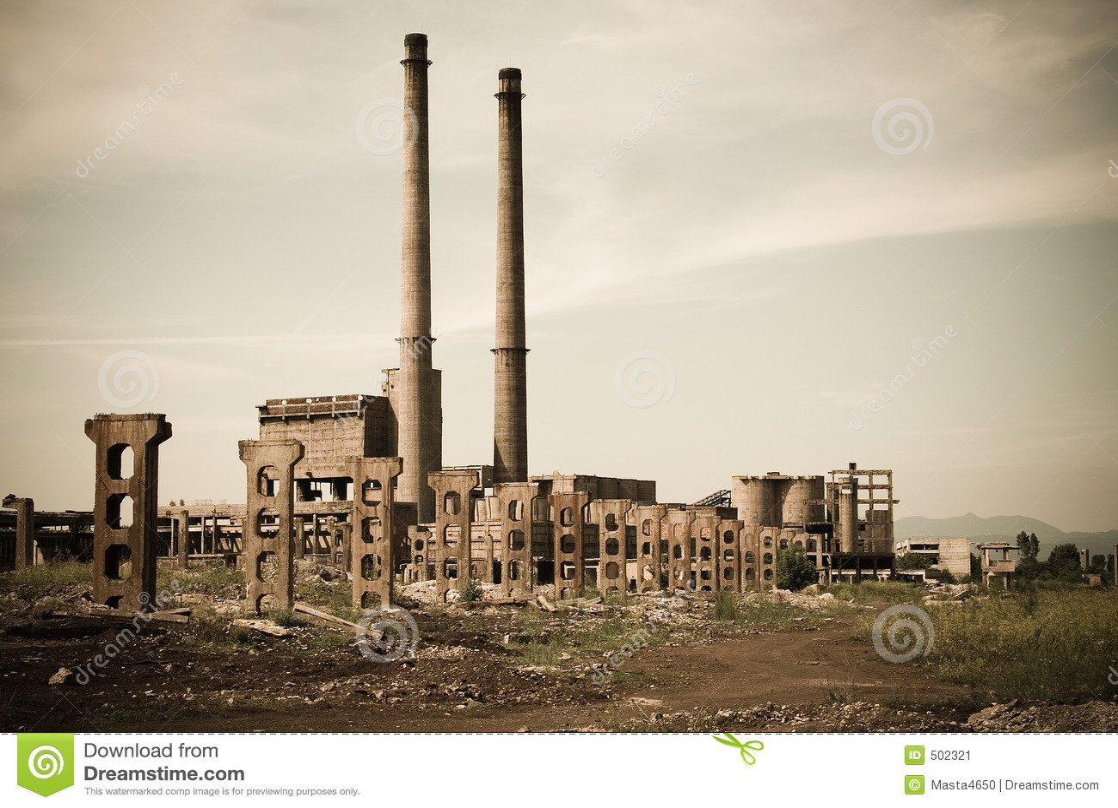övergivet industriellt