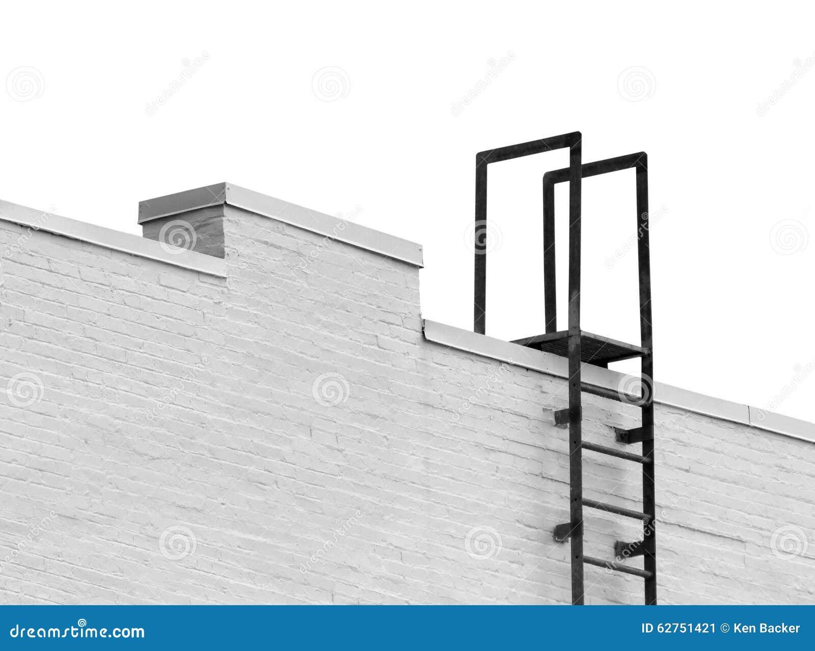 Överkant av en stege som ska takläggas isolerat