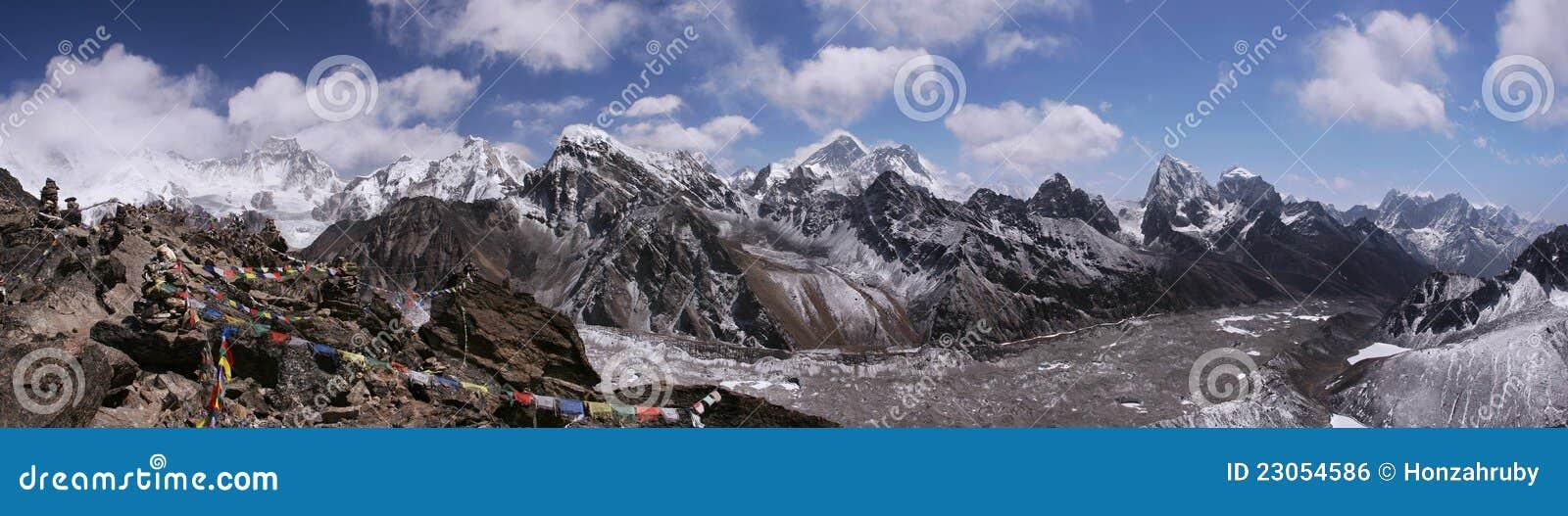 Överkant av världen i Himalayas, Nepal