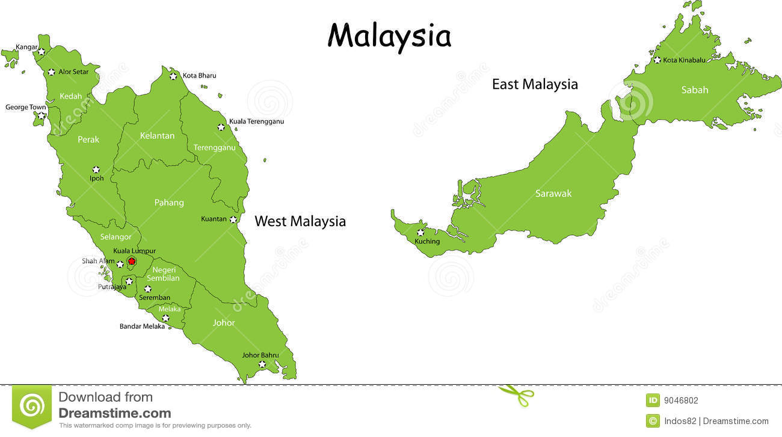 Översikt av Malaysia